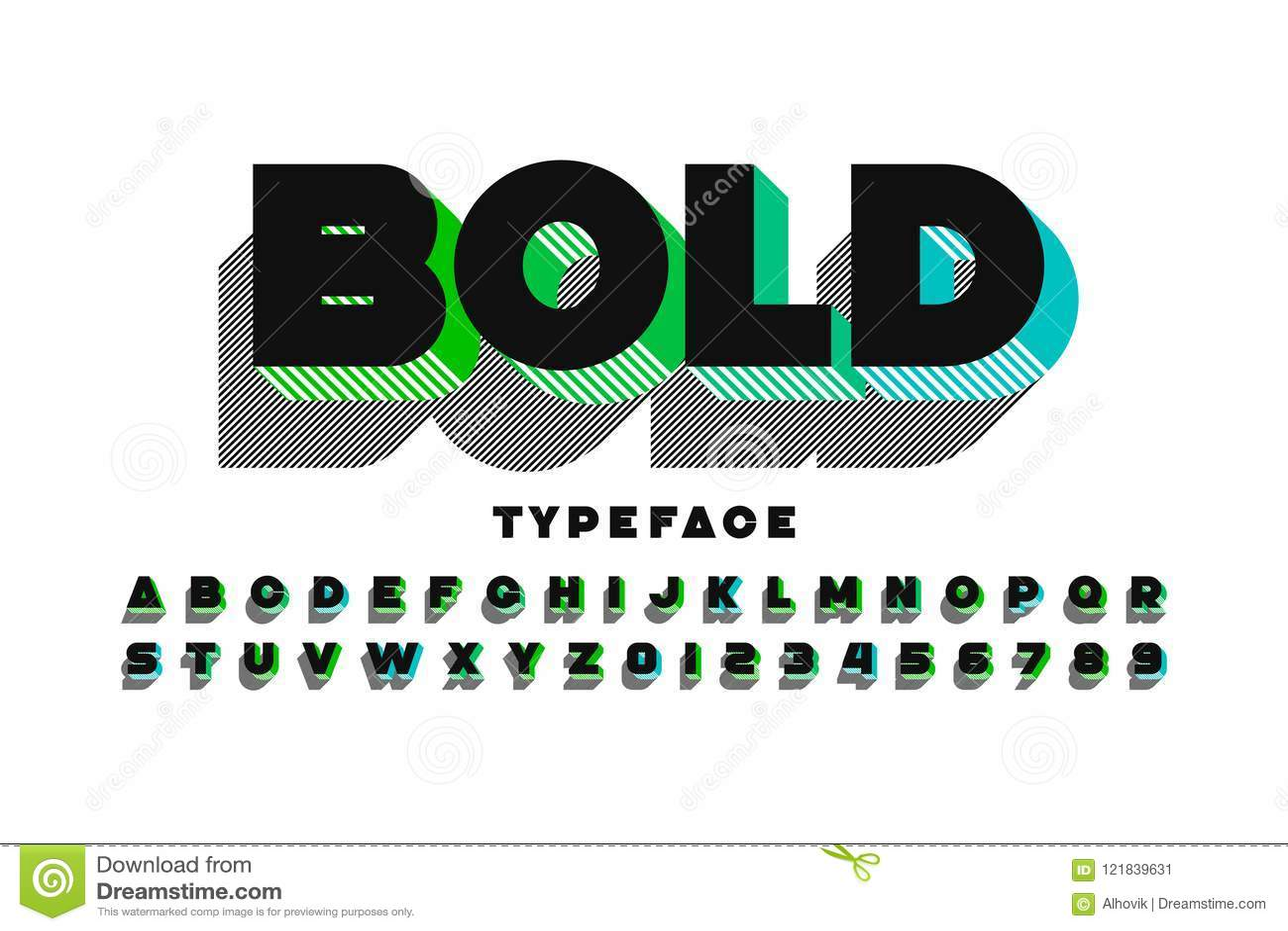 现代超大胆的3d字体