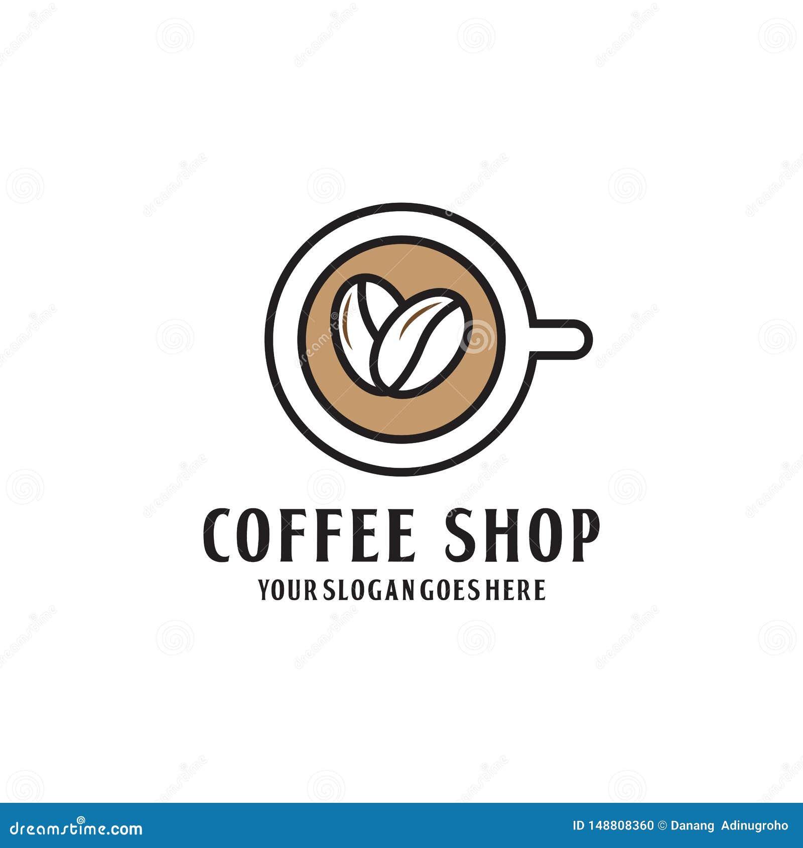 现代Coffe商店商标设计