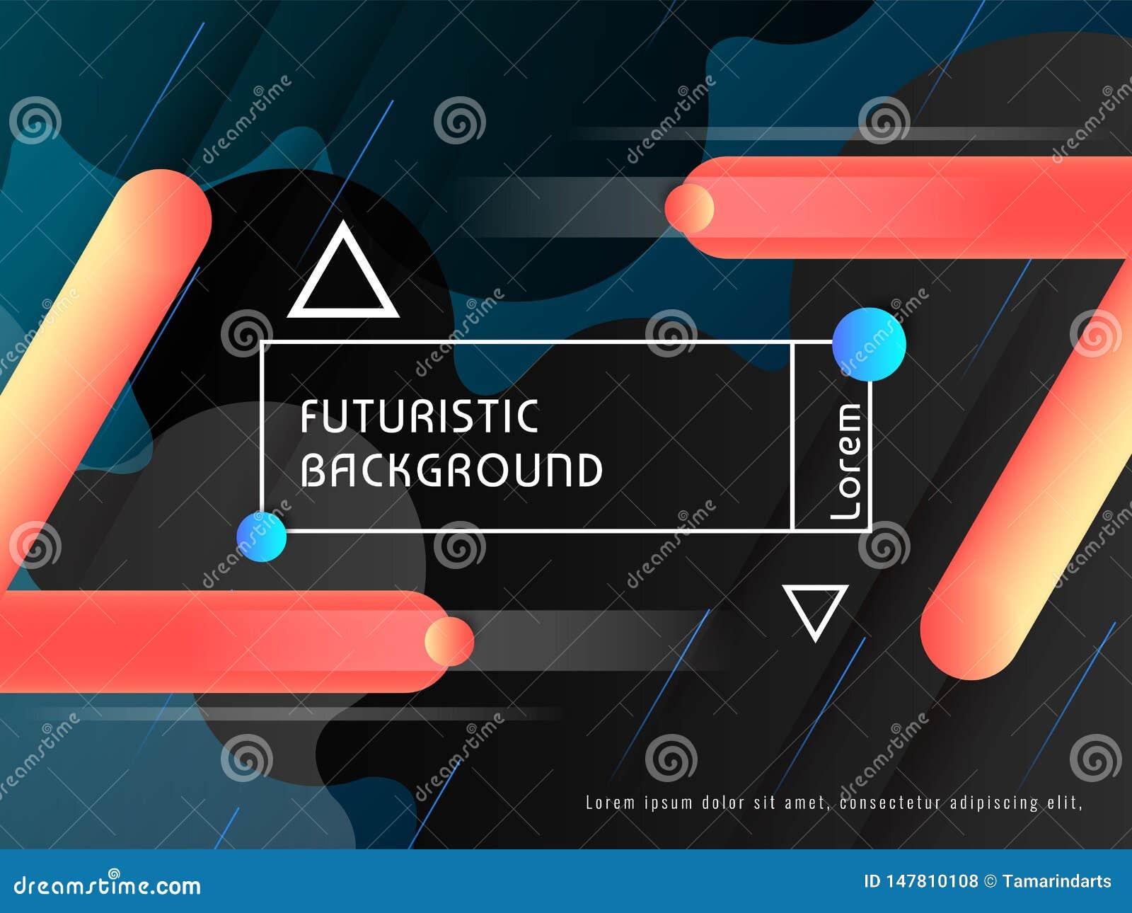 现代techno未来派背景传染媒介