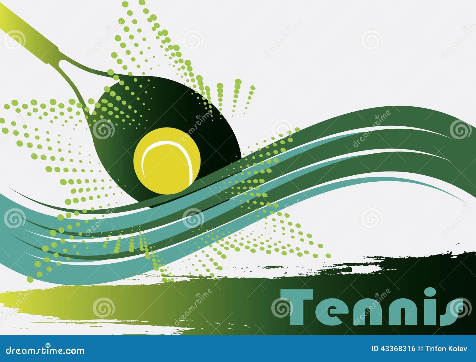 现场绿色网球