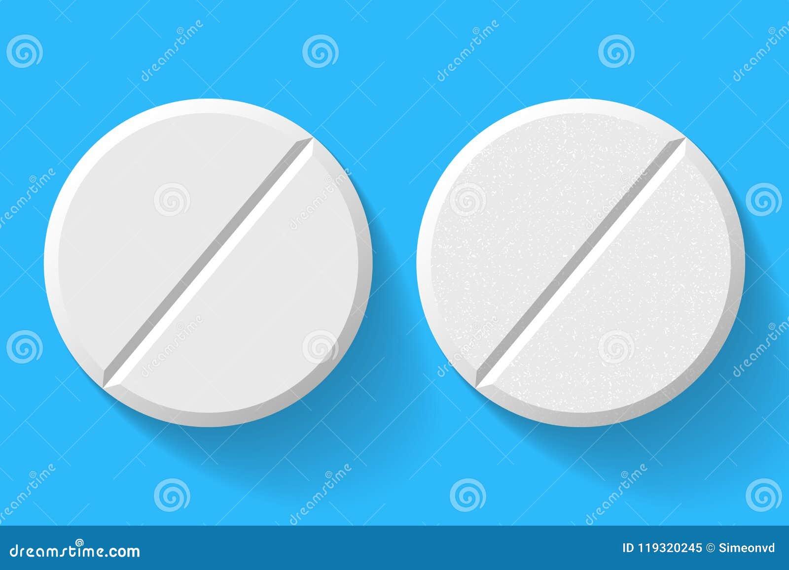 现实白色在背景隔绝的药片和片剂