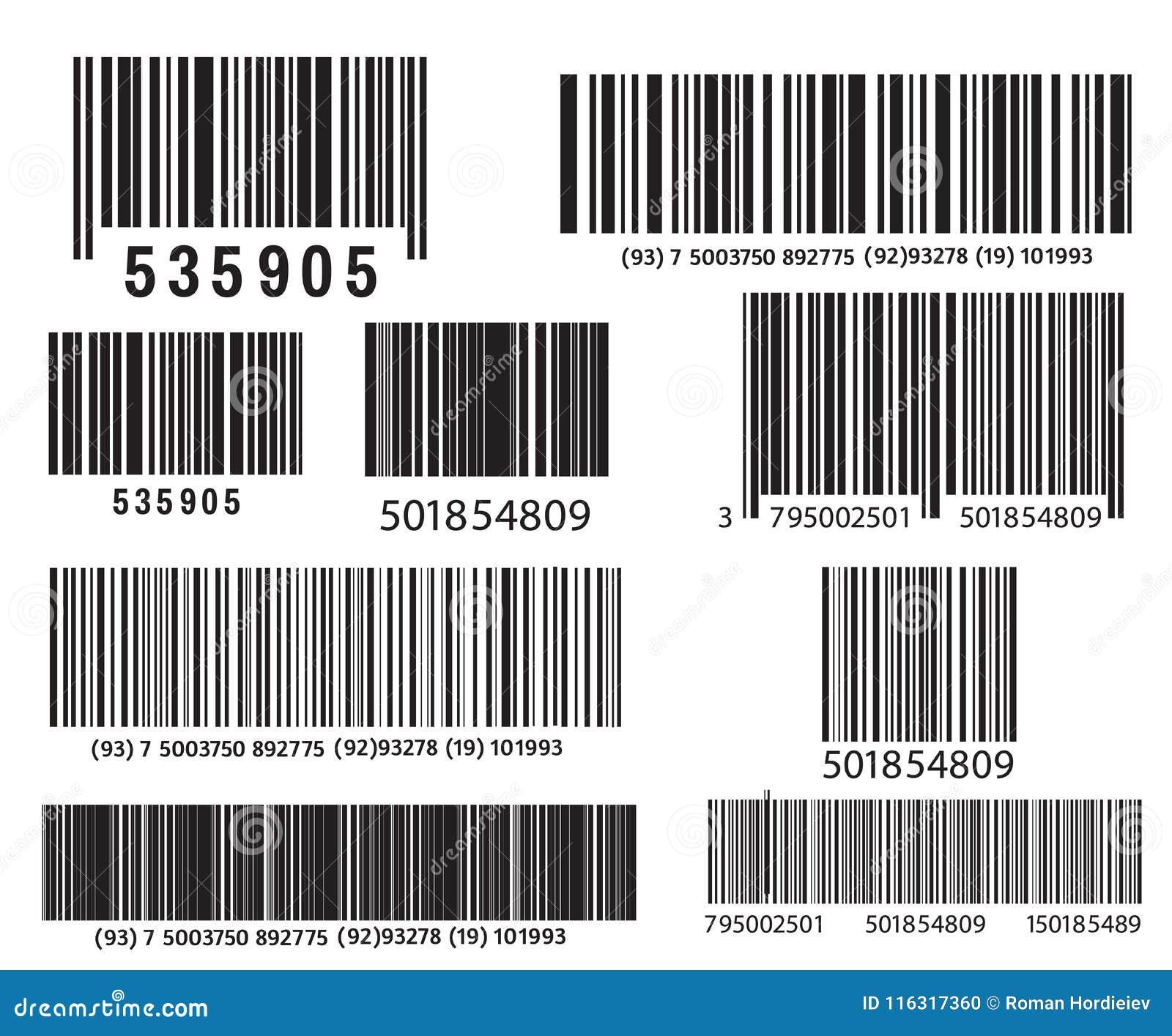 现实计算机条码象 现代简单的平的条形码 销售,互联网的概念 时兴的传染媒介标志