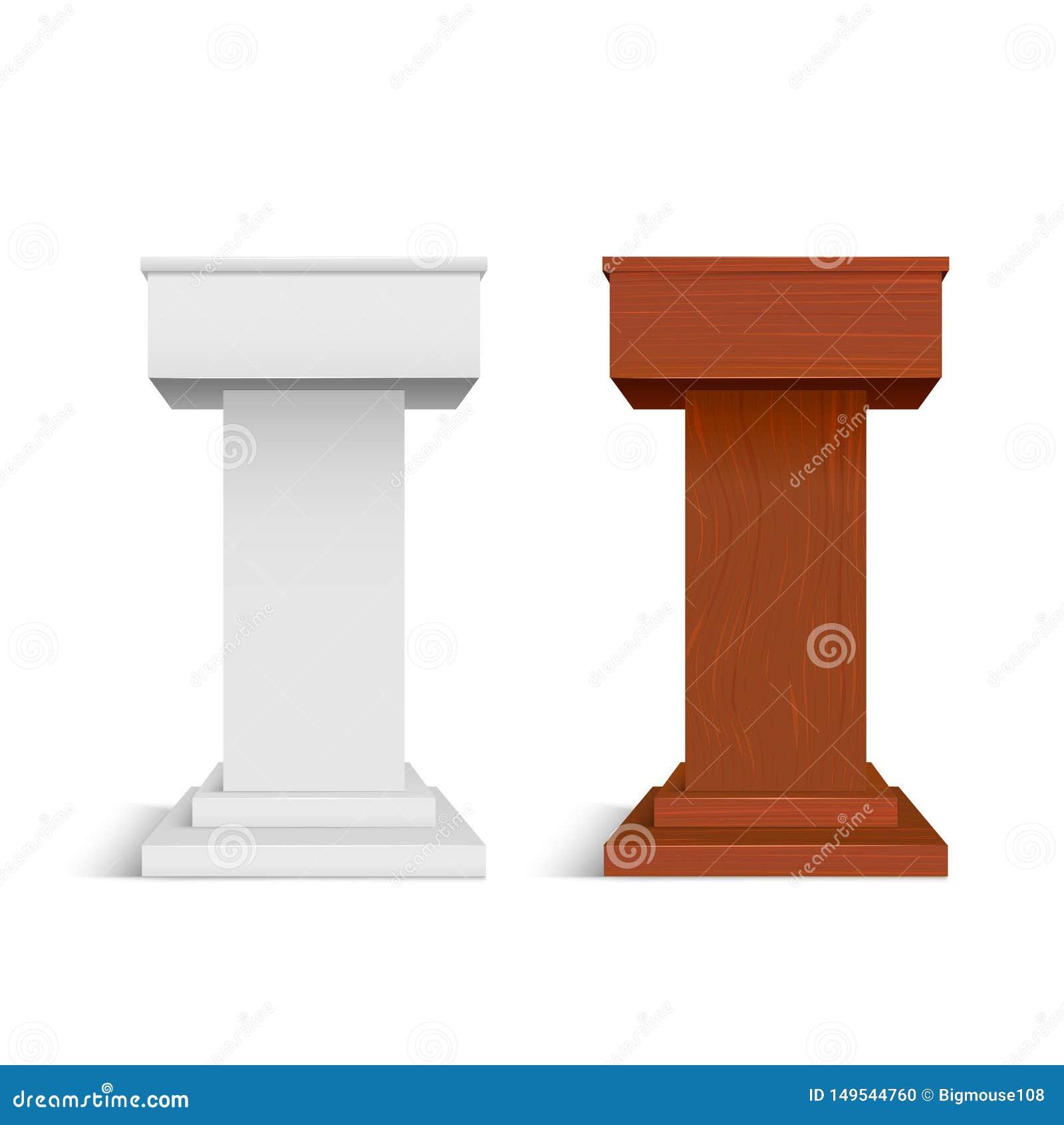 现实详细的3d白色空白和木阶段立场模板大模型集合 ??