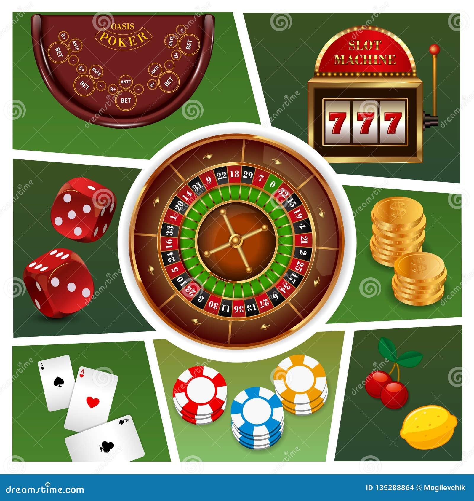 现实赌博娱乐场元素构成