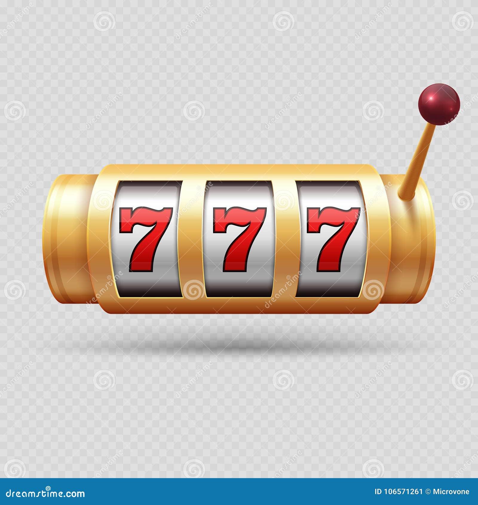 现实赌博娱乐场老虎机或幸运的标志隔绝了传染媒介对象