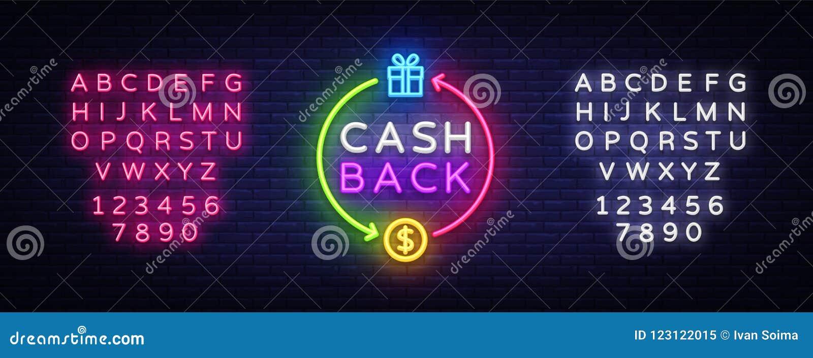 现金后面霓虹商标传染媒介 兑现后面霓虹灯广告,设计模板,现代趋向设计,赌博娱乐场霓虹牌,夜