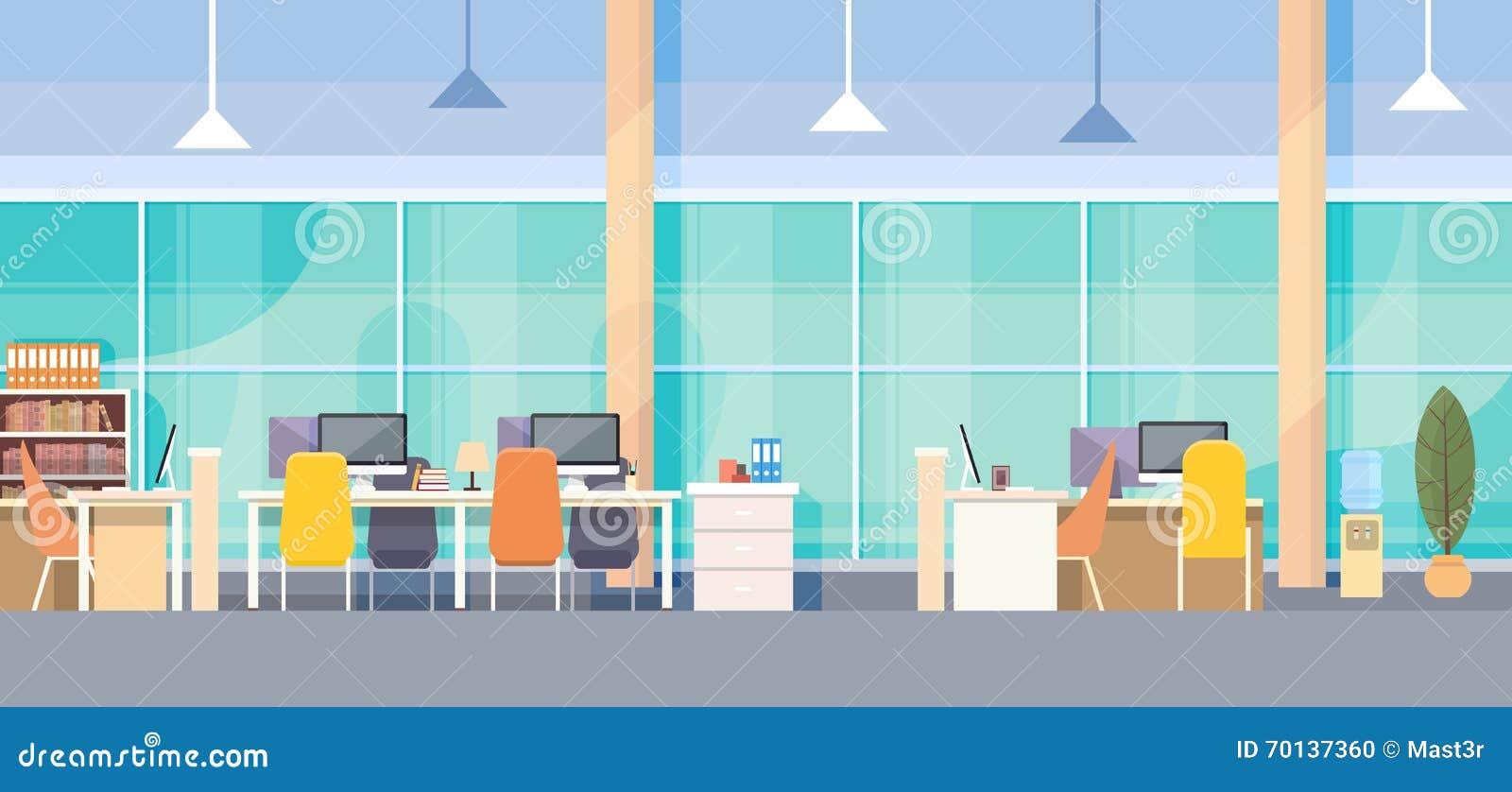 现代办公室内部工作场所书桌