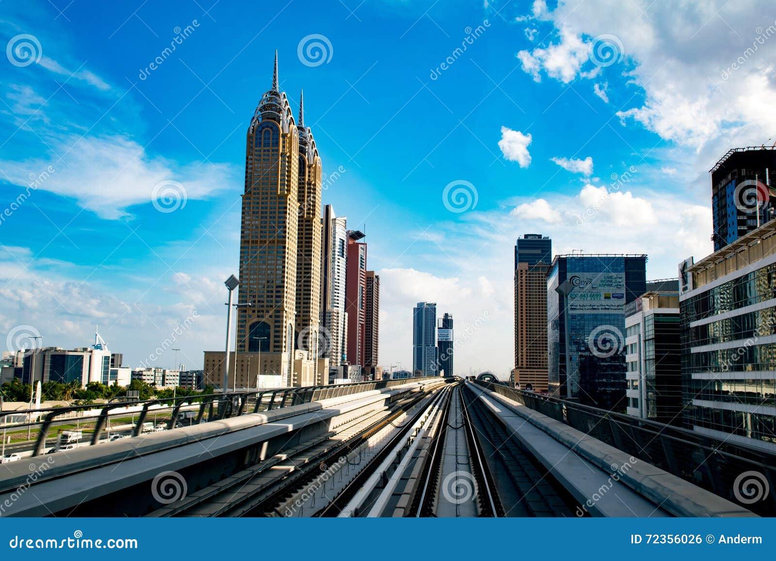 现代地铁在迪拜