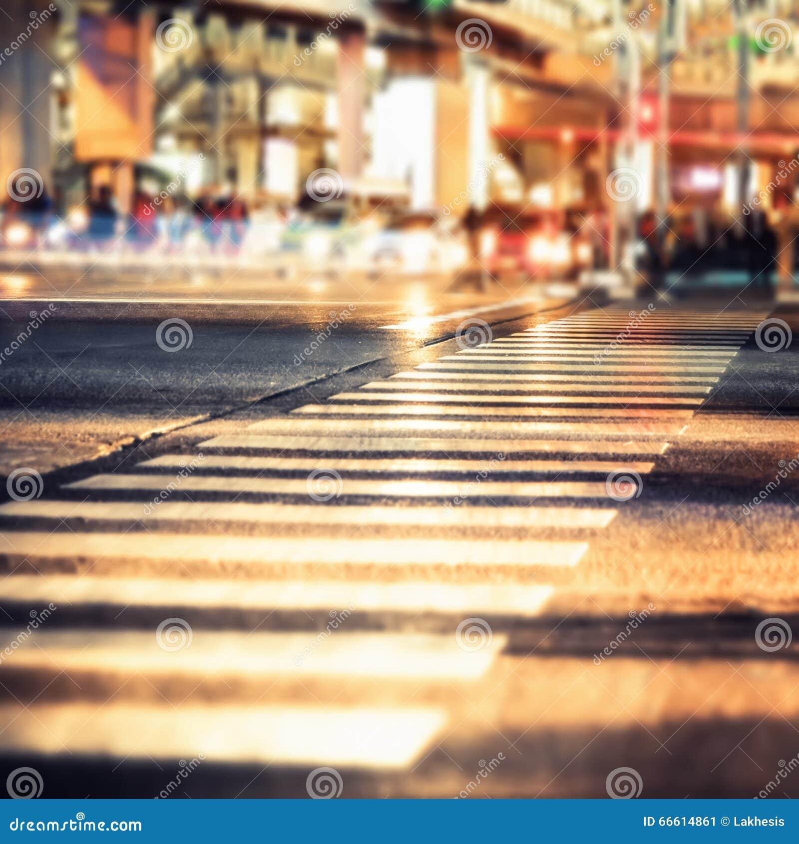 现代城市交叉路夜视图  抽象都市风景
