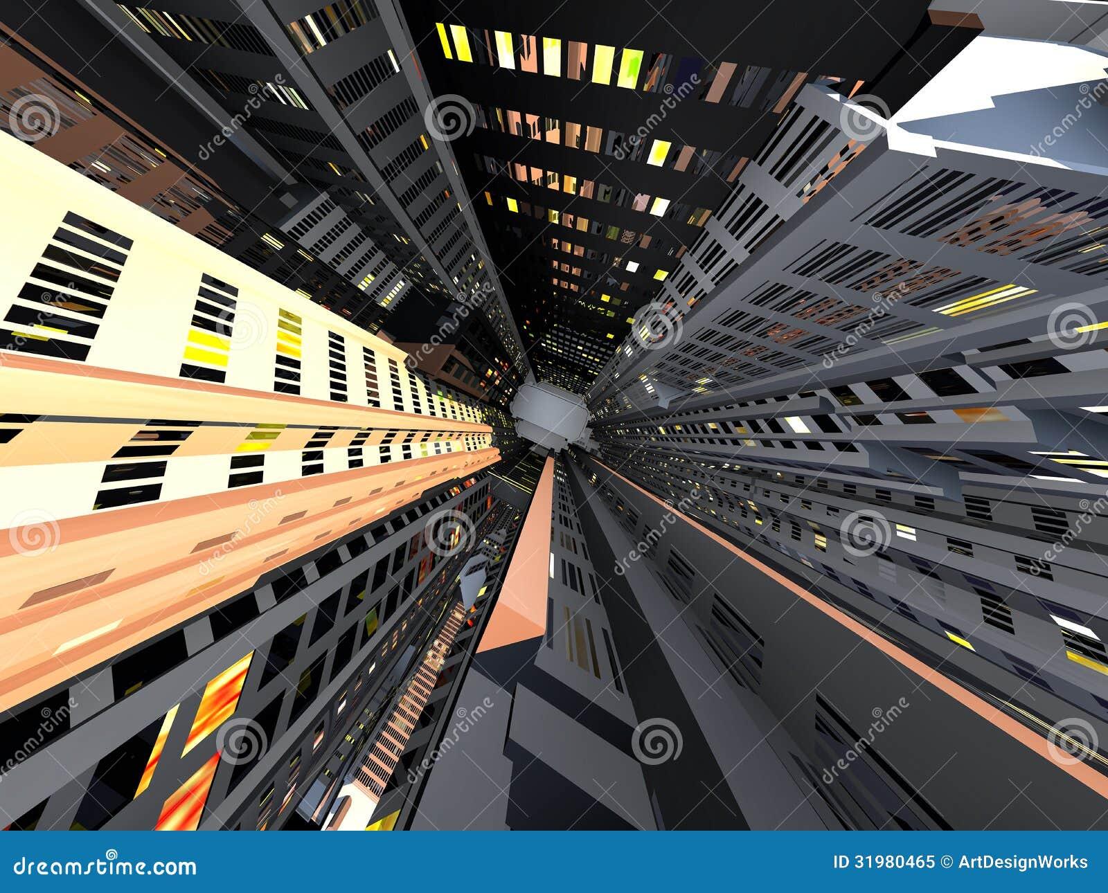 现代城市电梯