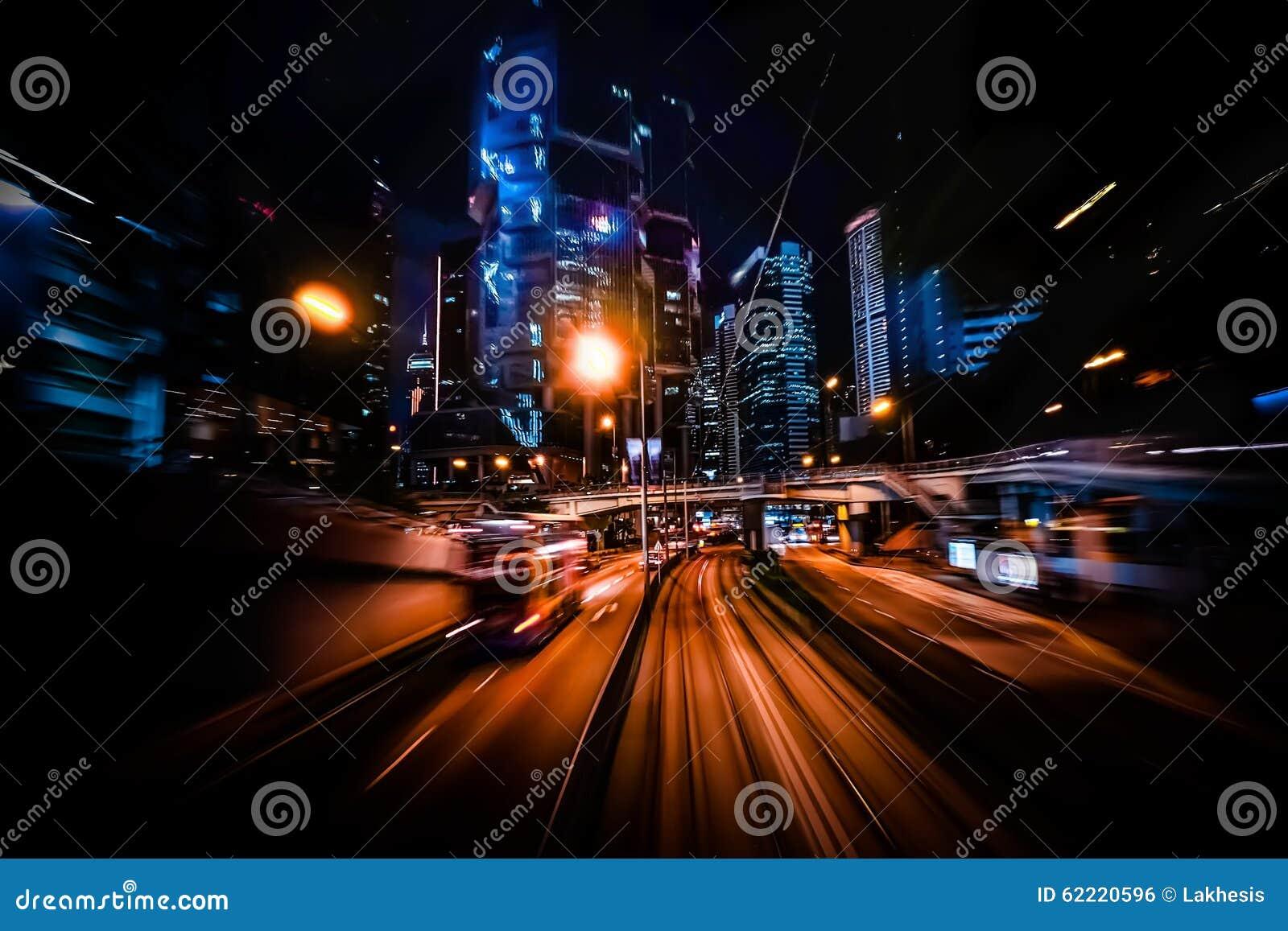 现代城市行动迷离 香港 抽象都市风景交通