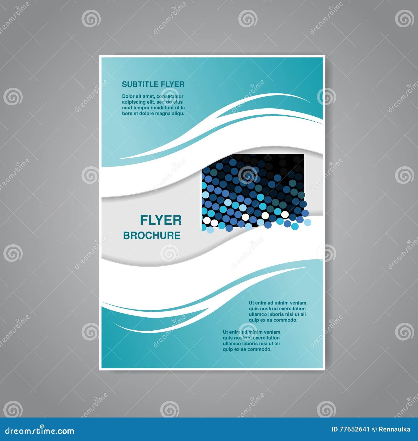 现代小册子、抽象飞行物或者书与波浪设计,海报,布局模板,杂志封面
