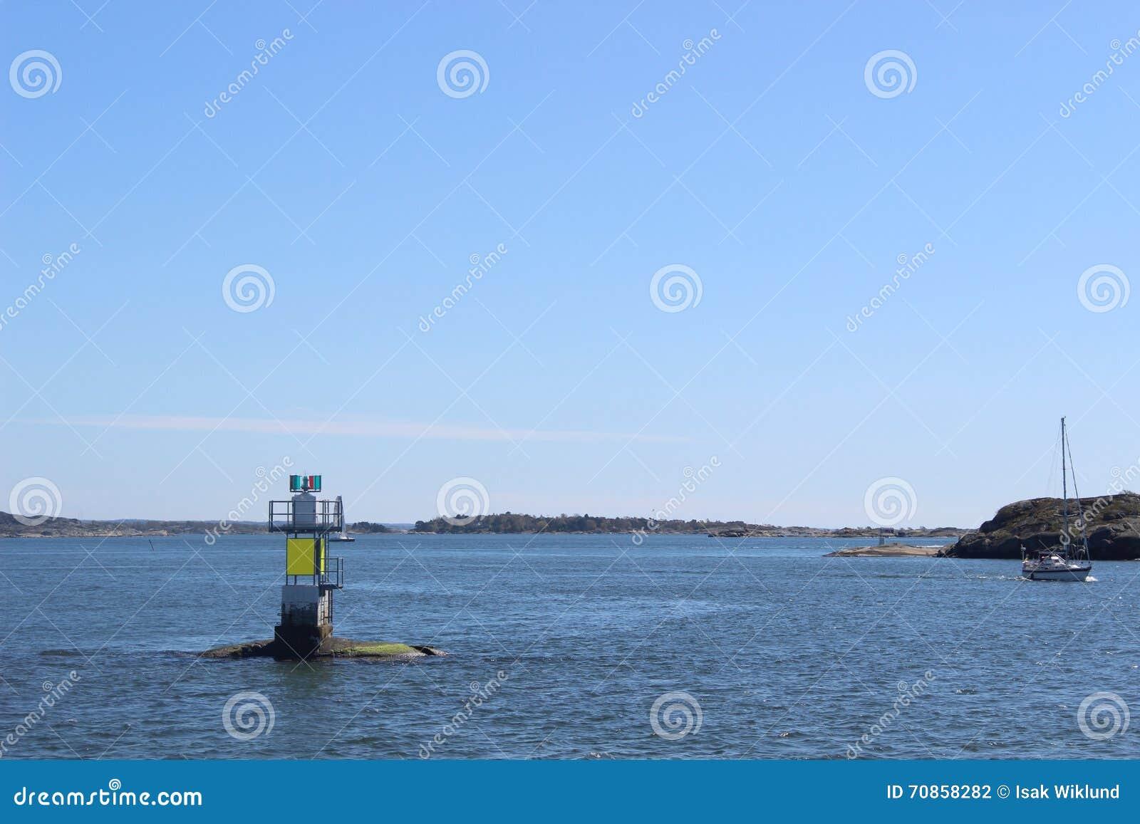 现代小灯塔在哥特人,瑞典群岛