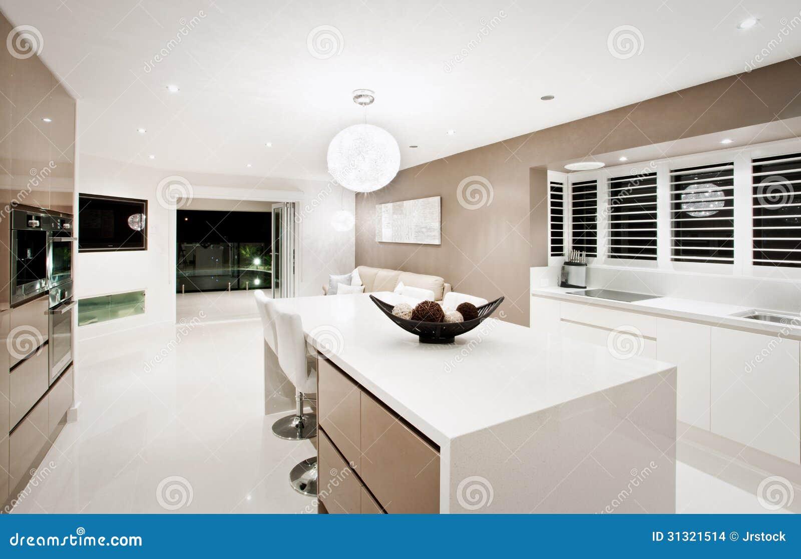 现代居住在厨房内部