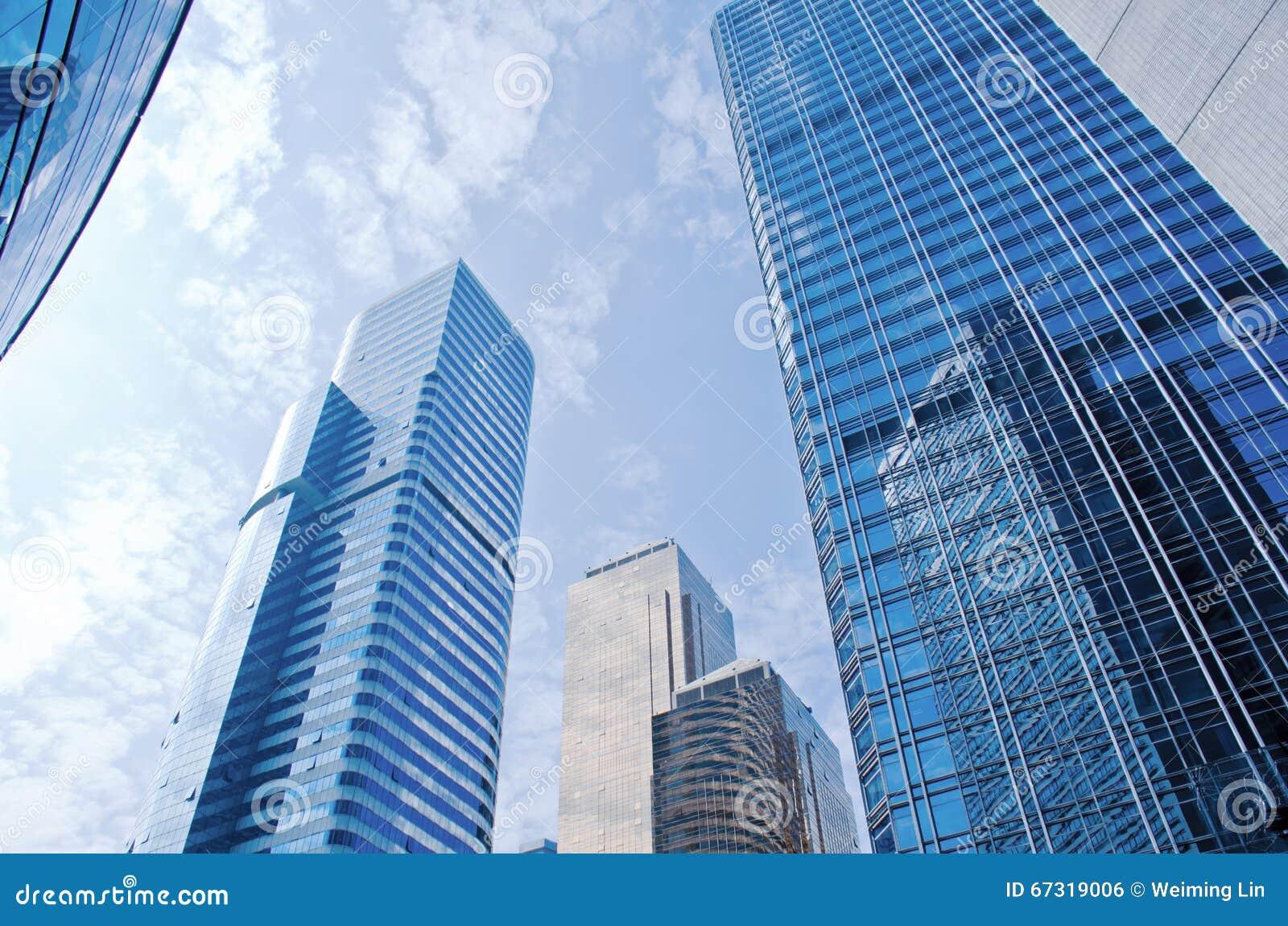 现代摩天大楼在广州