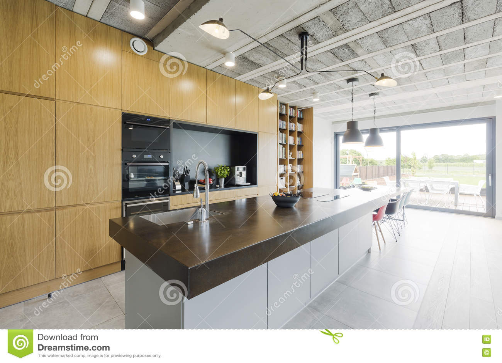 现代样式的厨房