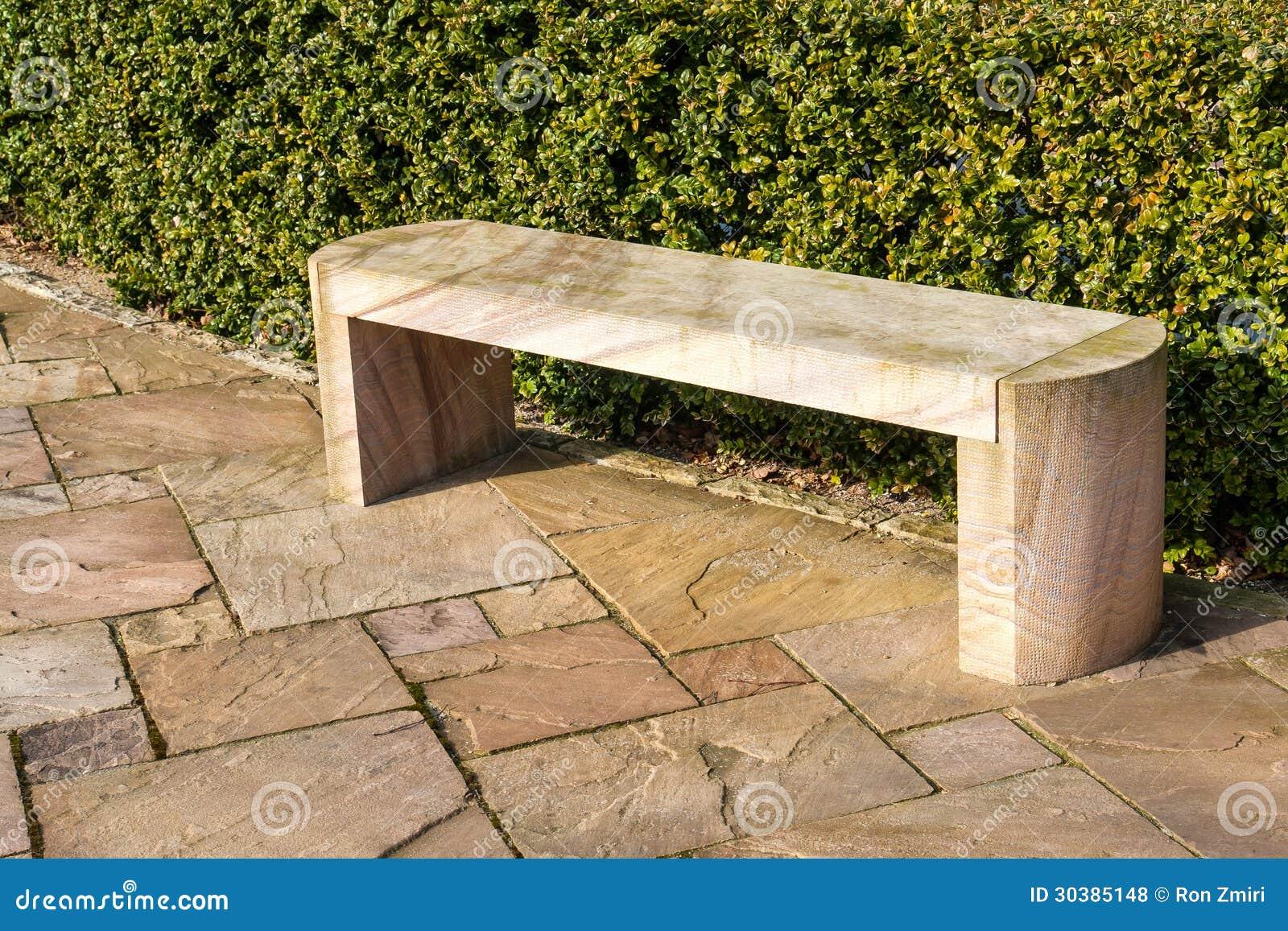 现代石大理石庭院长凳