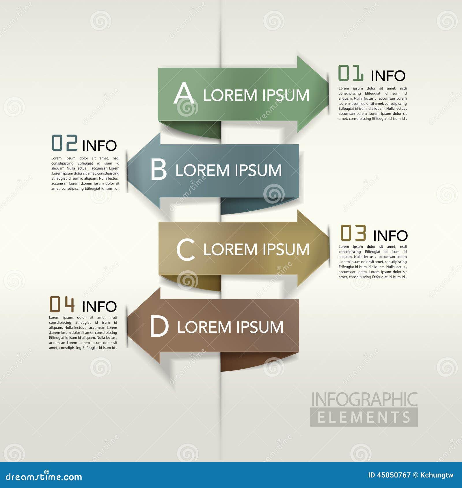 现代箭头长条图infographic元素