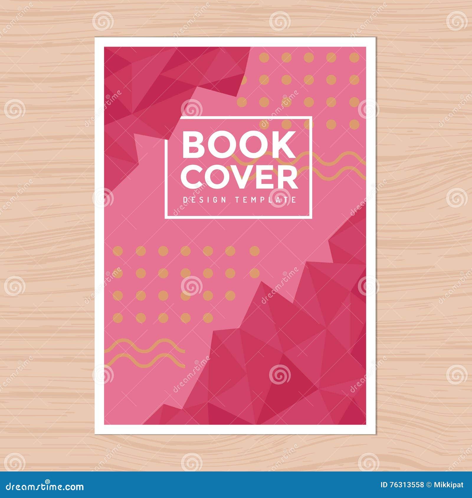 Simple Book Cover Design Template : 现代设计书套, poster, flyer, company公司概况,年终报告在a 大小的设计版面模板 向量例证