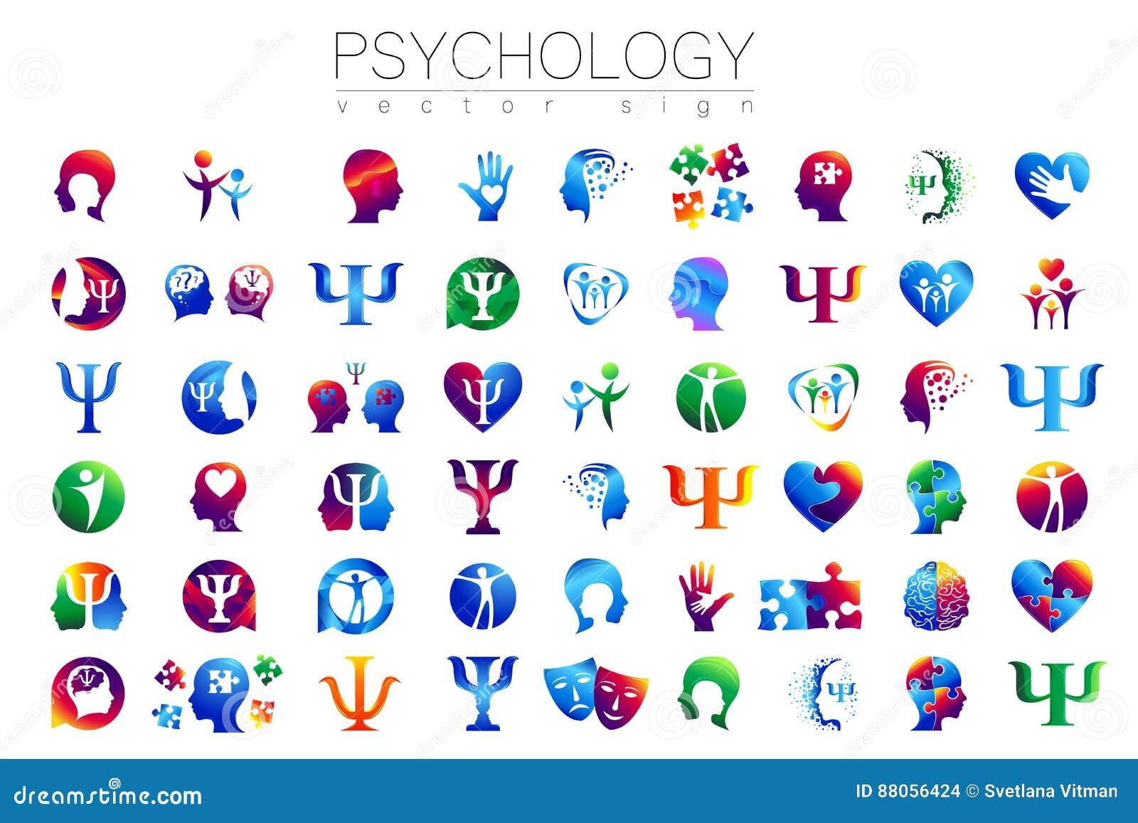 现代顶头标志套心理学 外形人 创造性的样式 在传染媒介的标志 设计观念 品牌公司