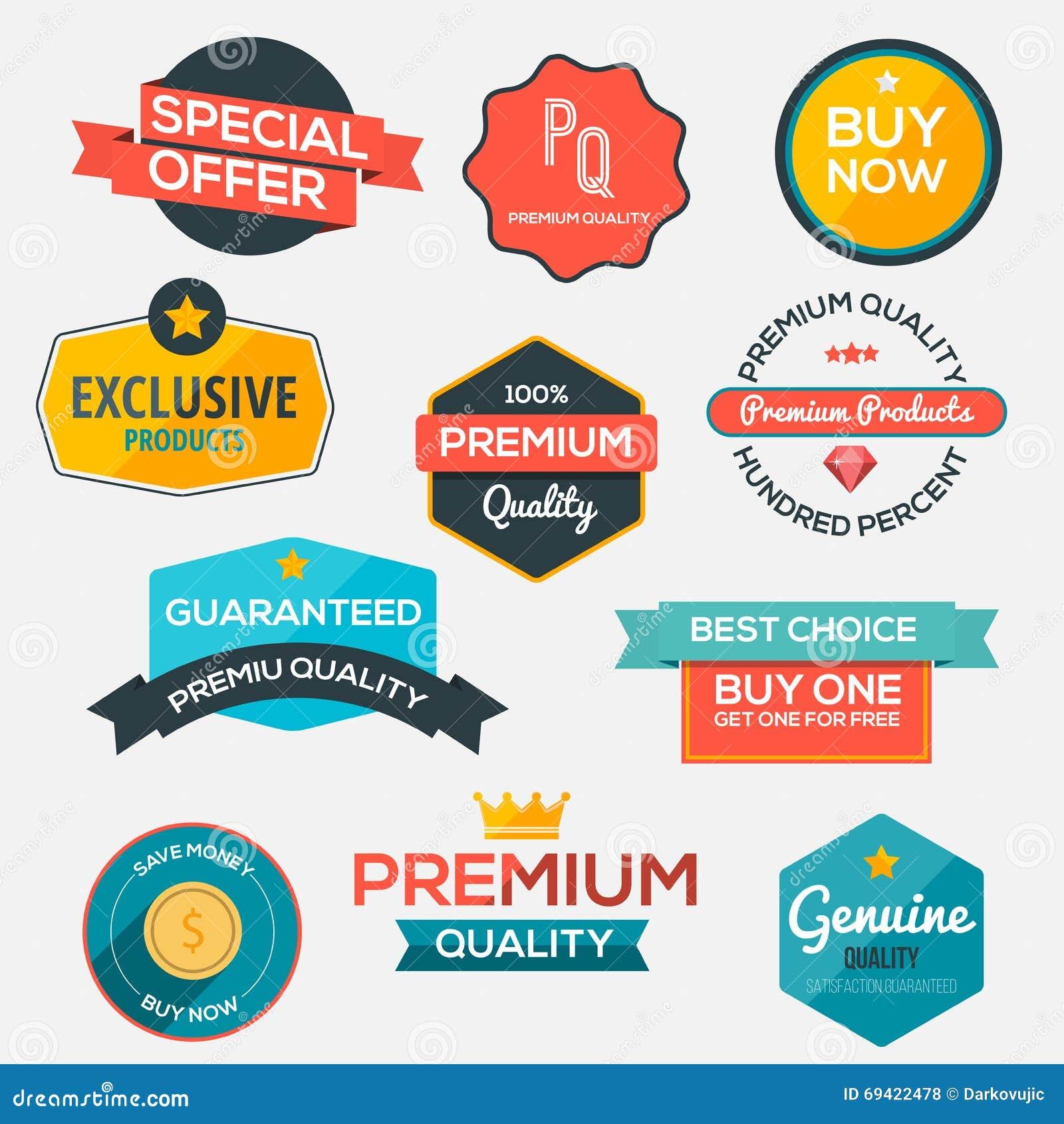 现代,平的设计被称呼的标签和设计eleme的汇集