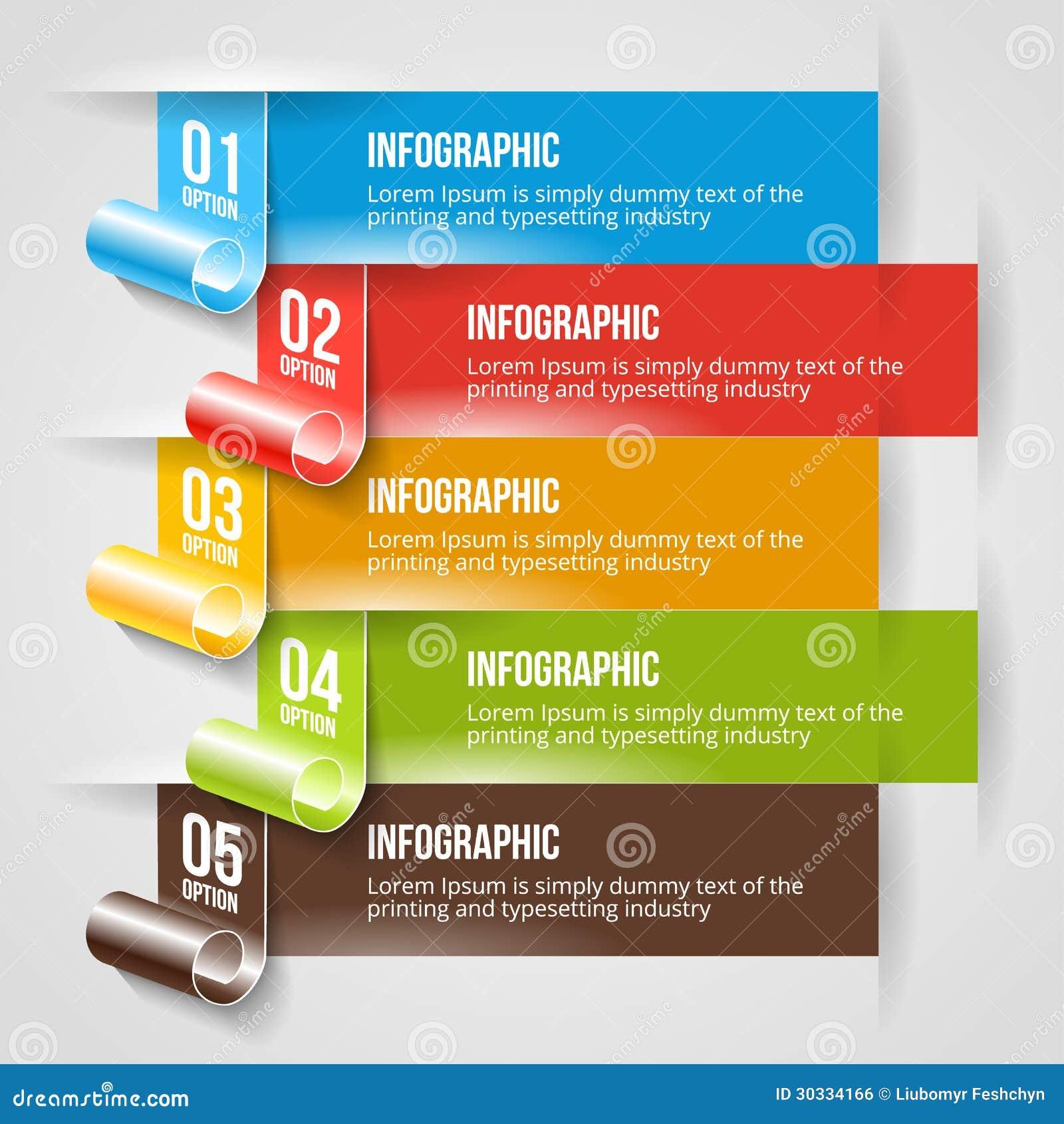 现代Infographic和选择横幅模板