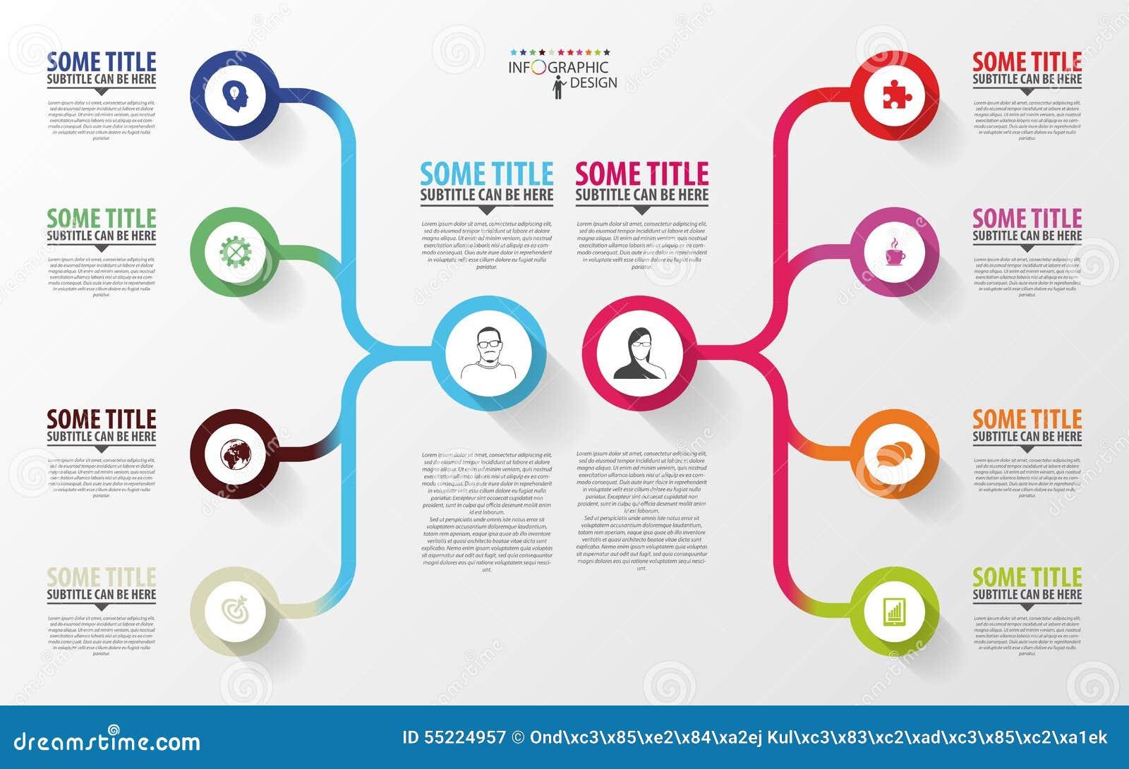 现代infographics 经营计划设计模板 向量