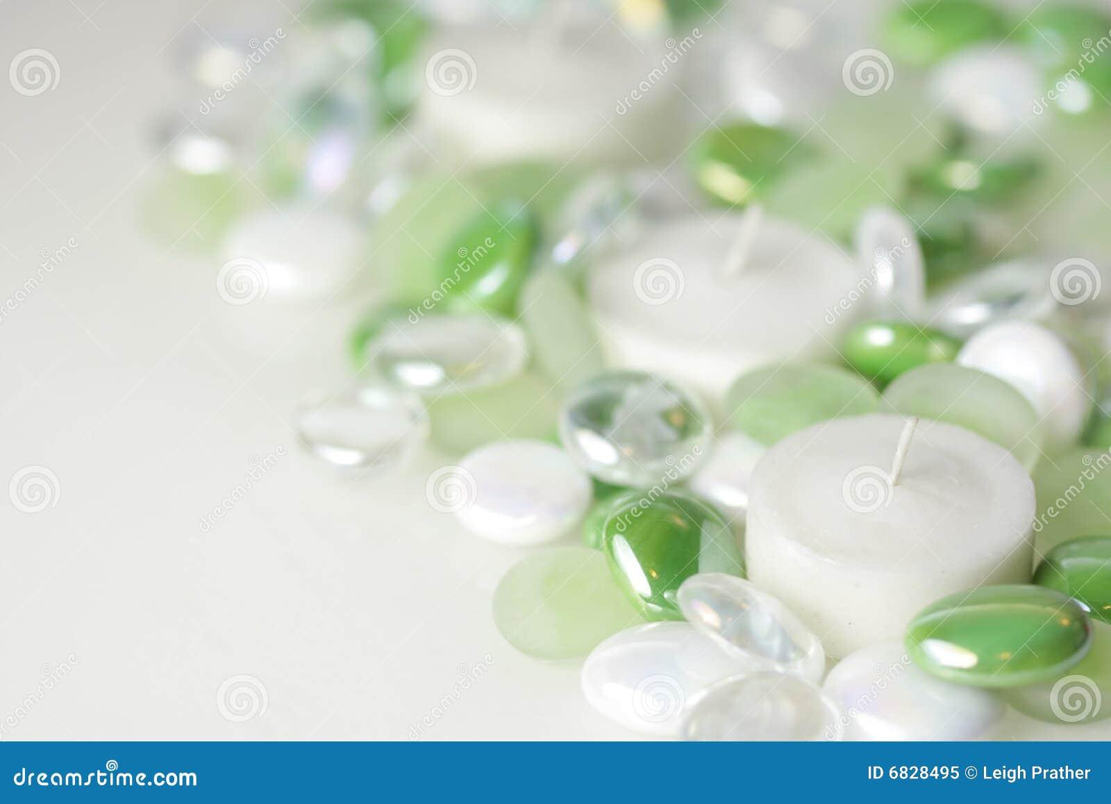 玻璃小珠的蜡烛