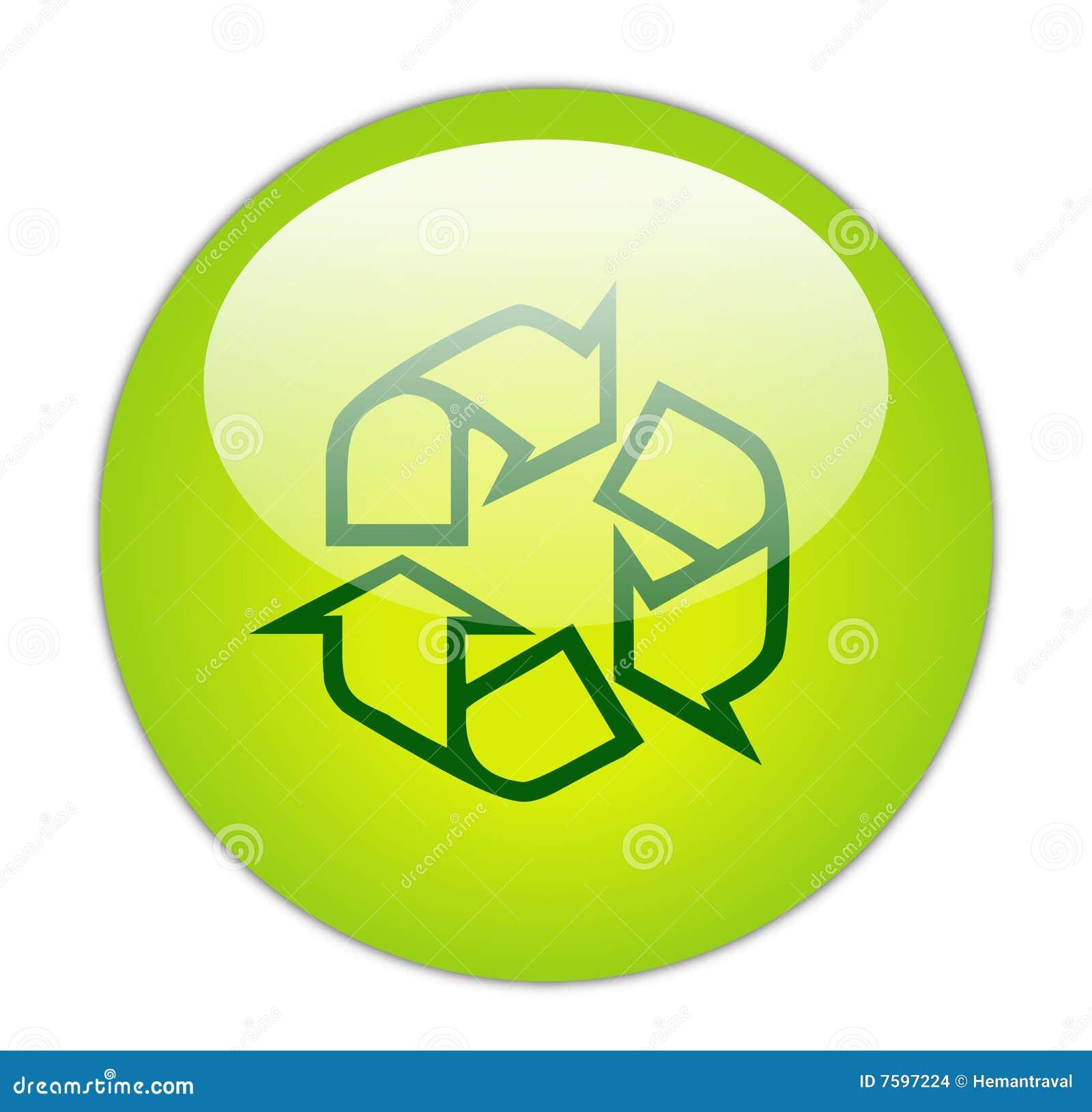 玻璃状绿色图标分级显示回收