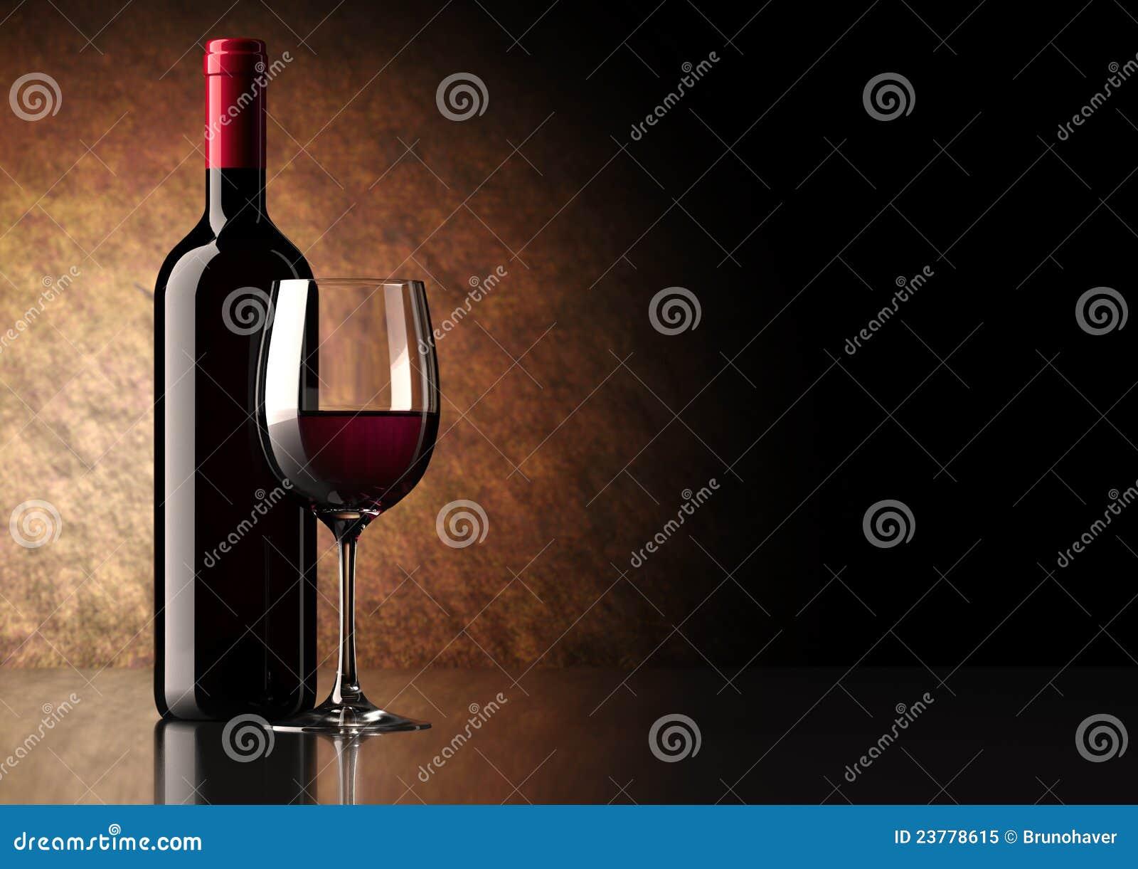 玻璃瓶红葡萄酒