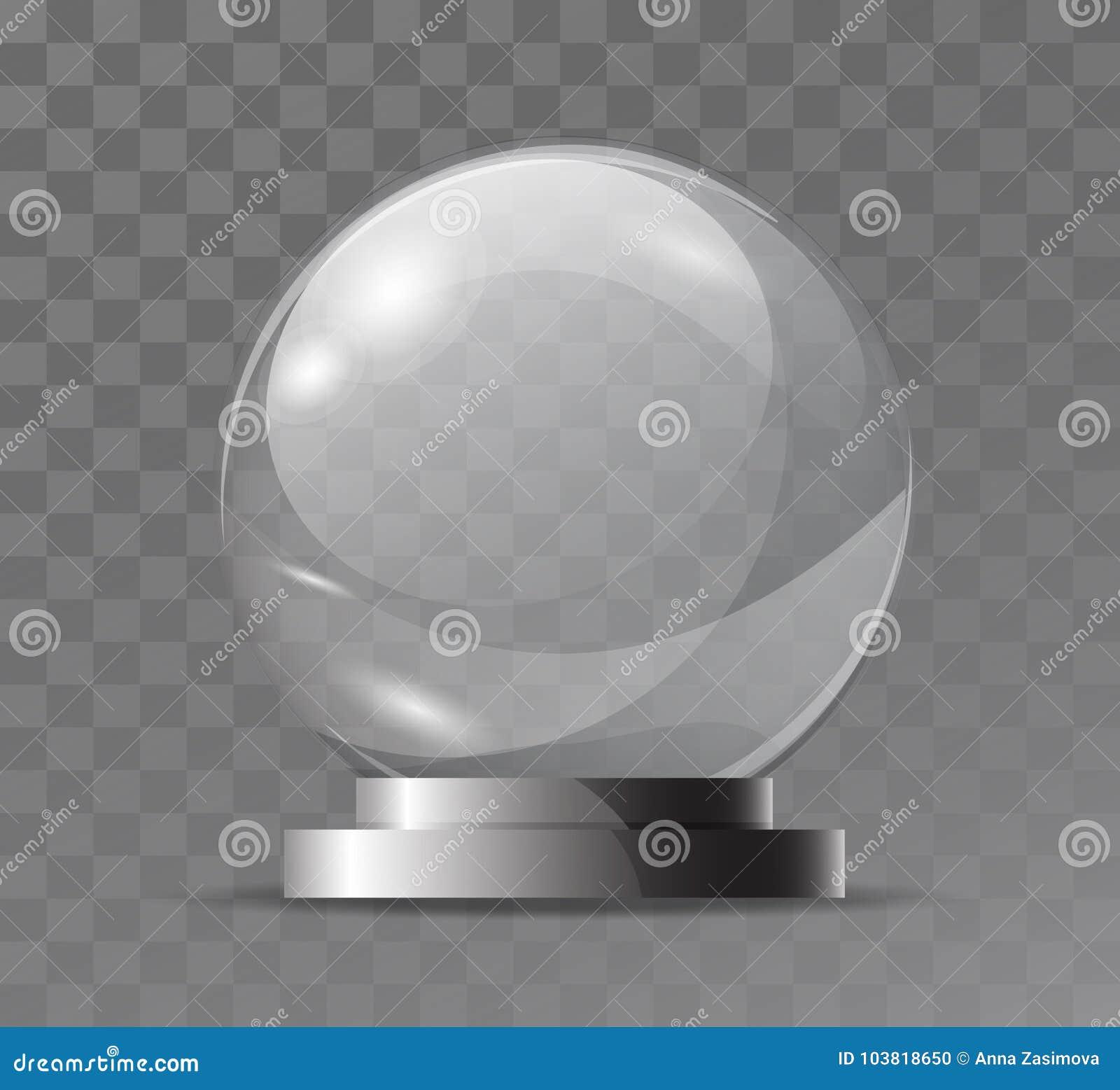 玻璃透明水晶地球 不可思议的属性 倒空玻璃范围 纪念品的立场,战利品 现实传染媒介对象isolat