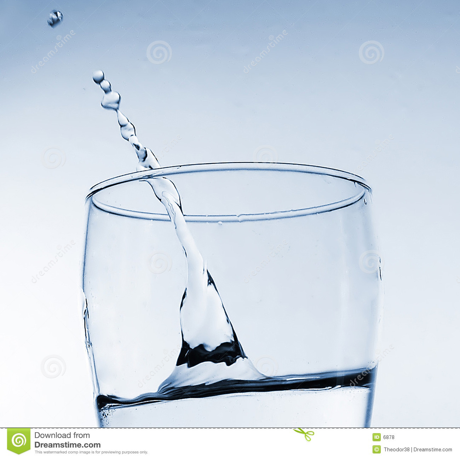 玻璃飞溅水