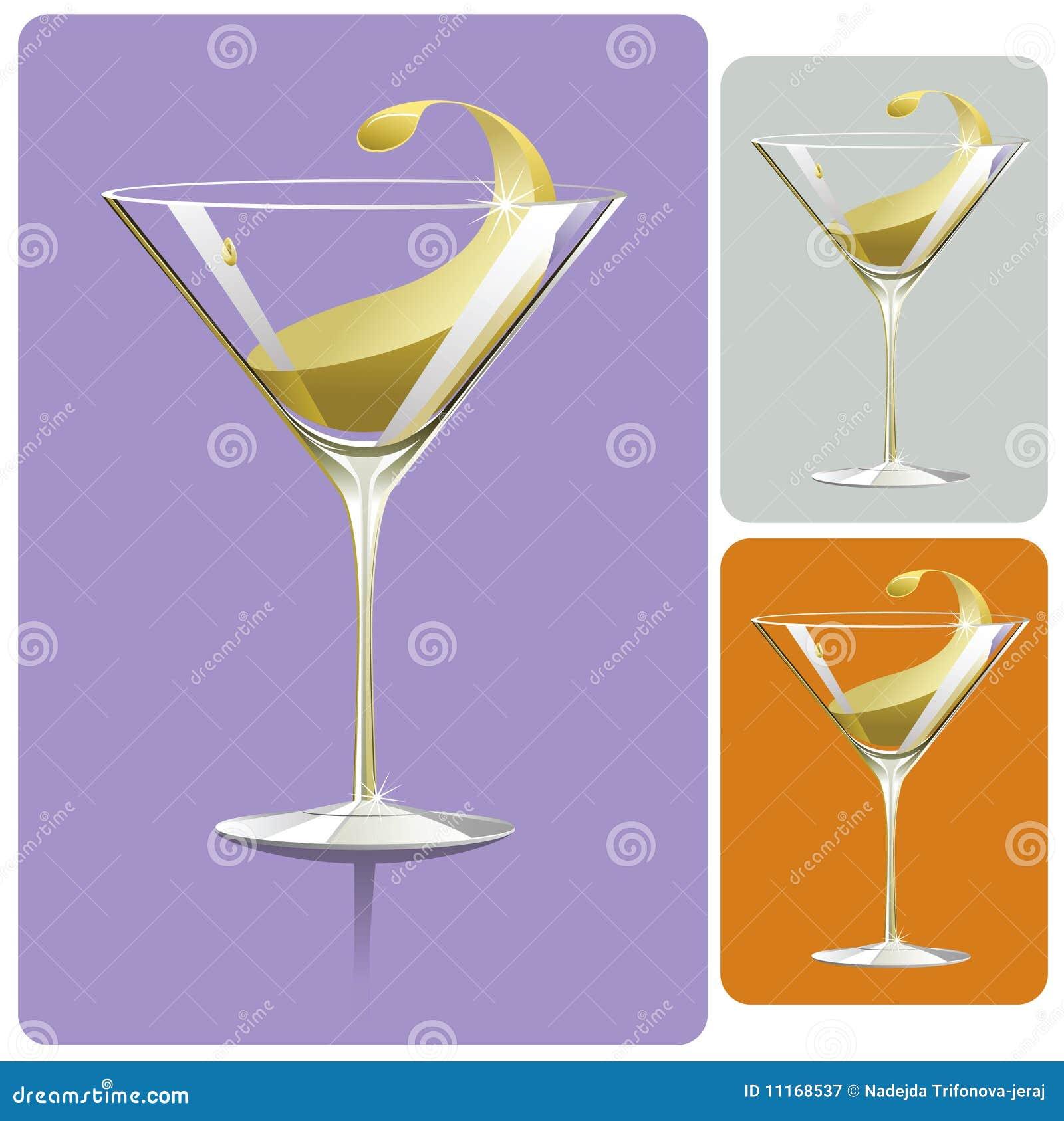 玻璃马蒂尼鸡尾酒