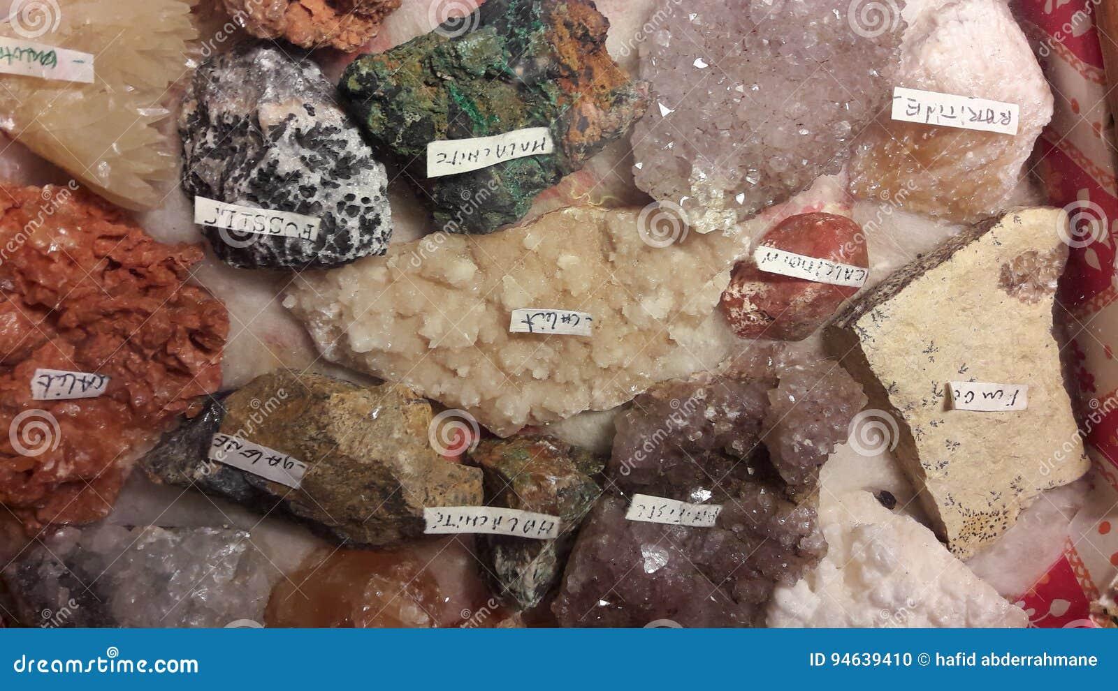 珍贵的岩石和石头