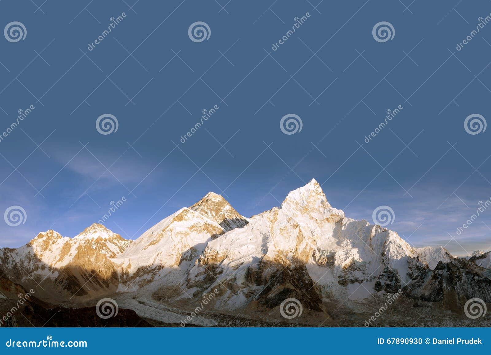 珠峰全景从Kala Patthar的