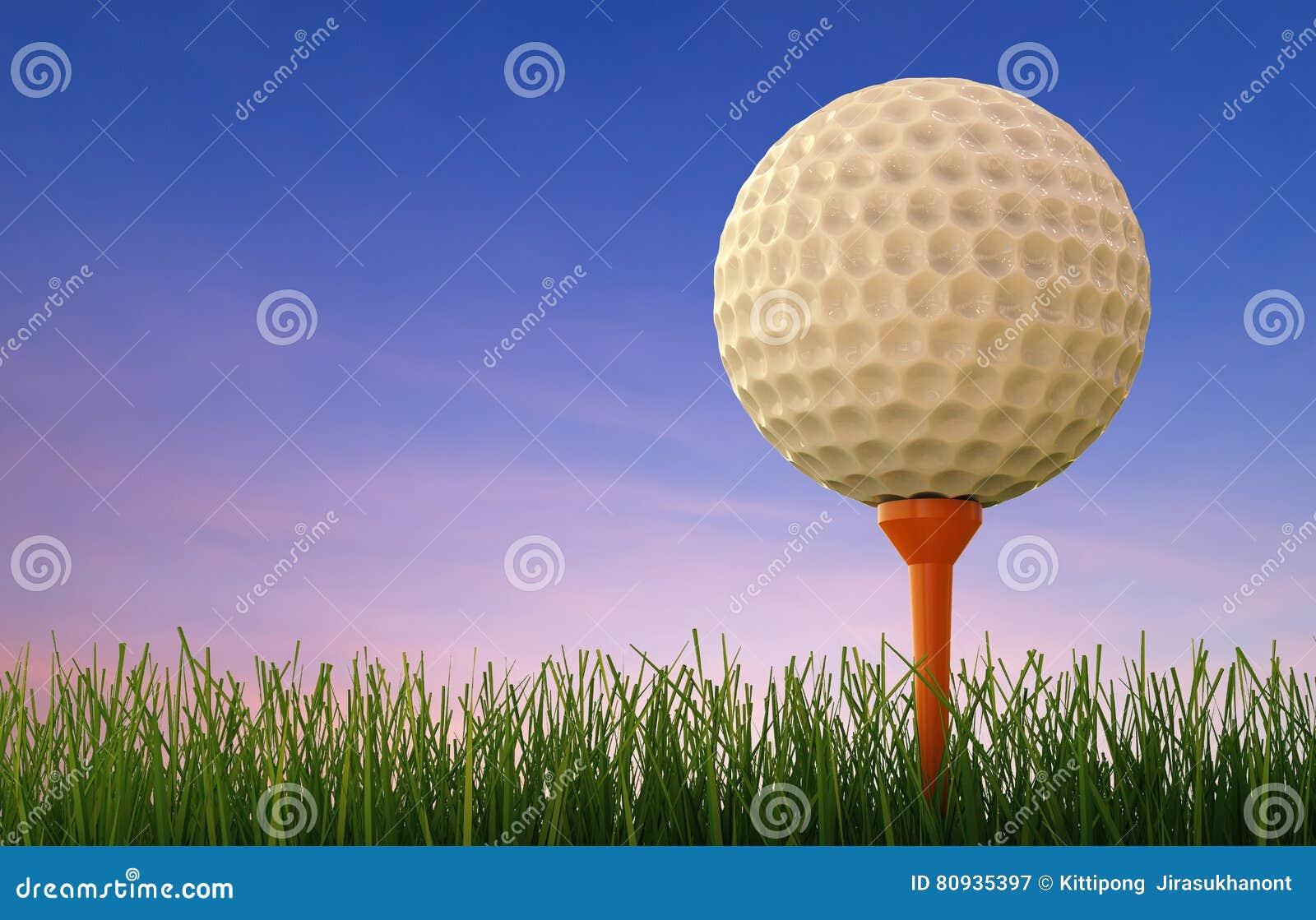 球剪报高尔夫球图象查出的路径发球区域