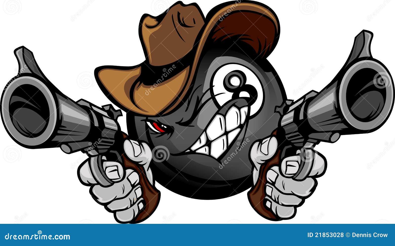 球台球动画片牛仔八合并枪战