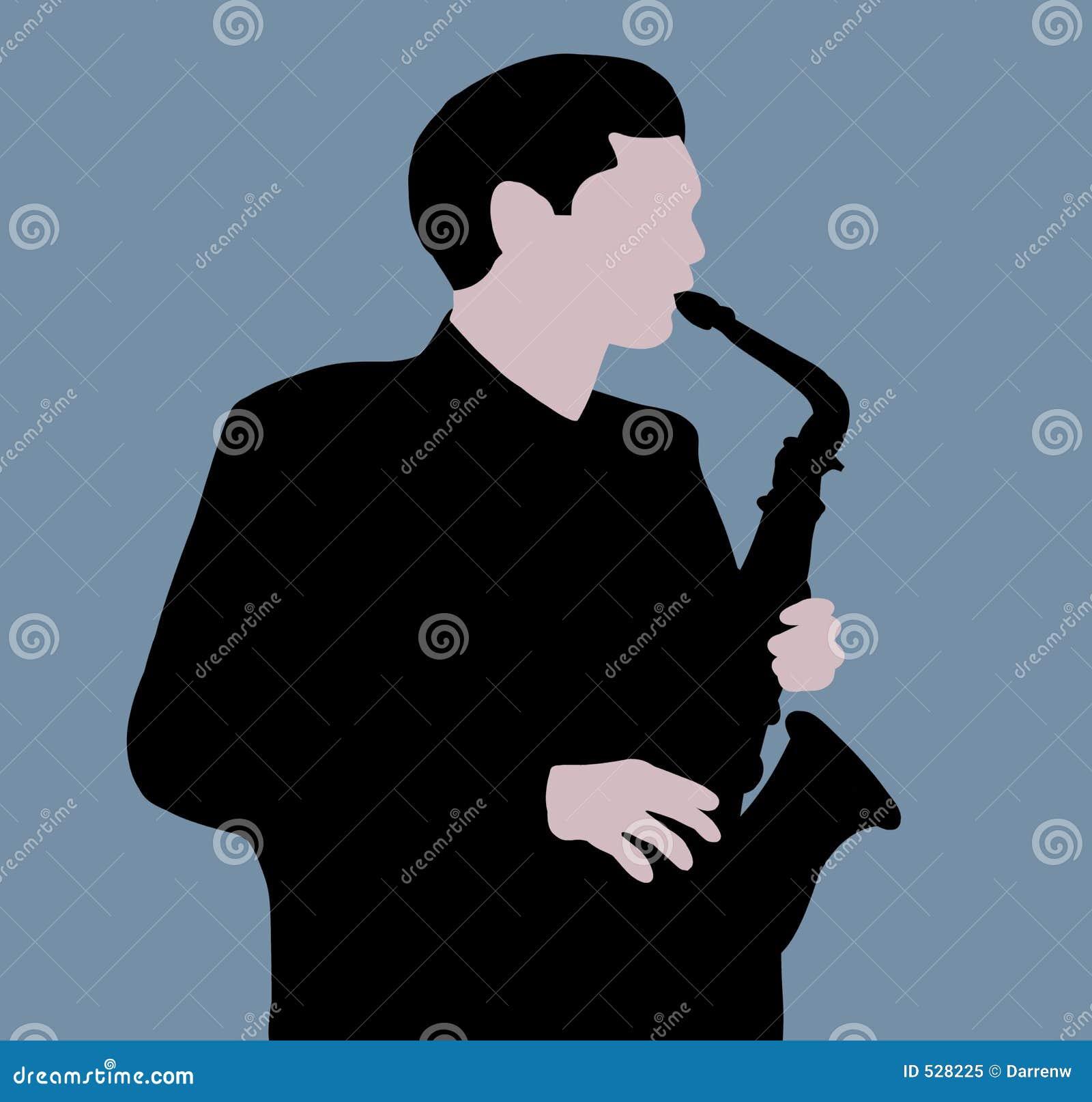Download 球员萨克斯管 库存例证. 插画 包括有 可笑, 作用, 恐怖, 流行音乐, 葡萄酒, 乐队, 萨克斯管, 蓝色 - 528225