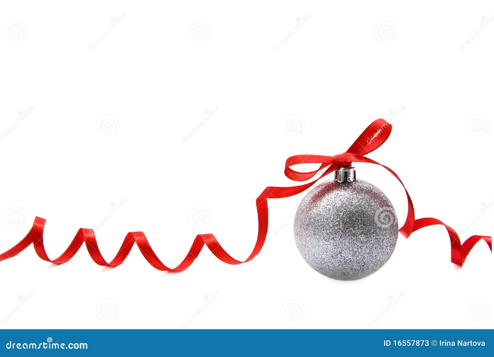 球圣诞节玻璃银