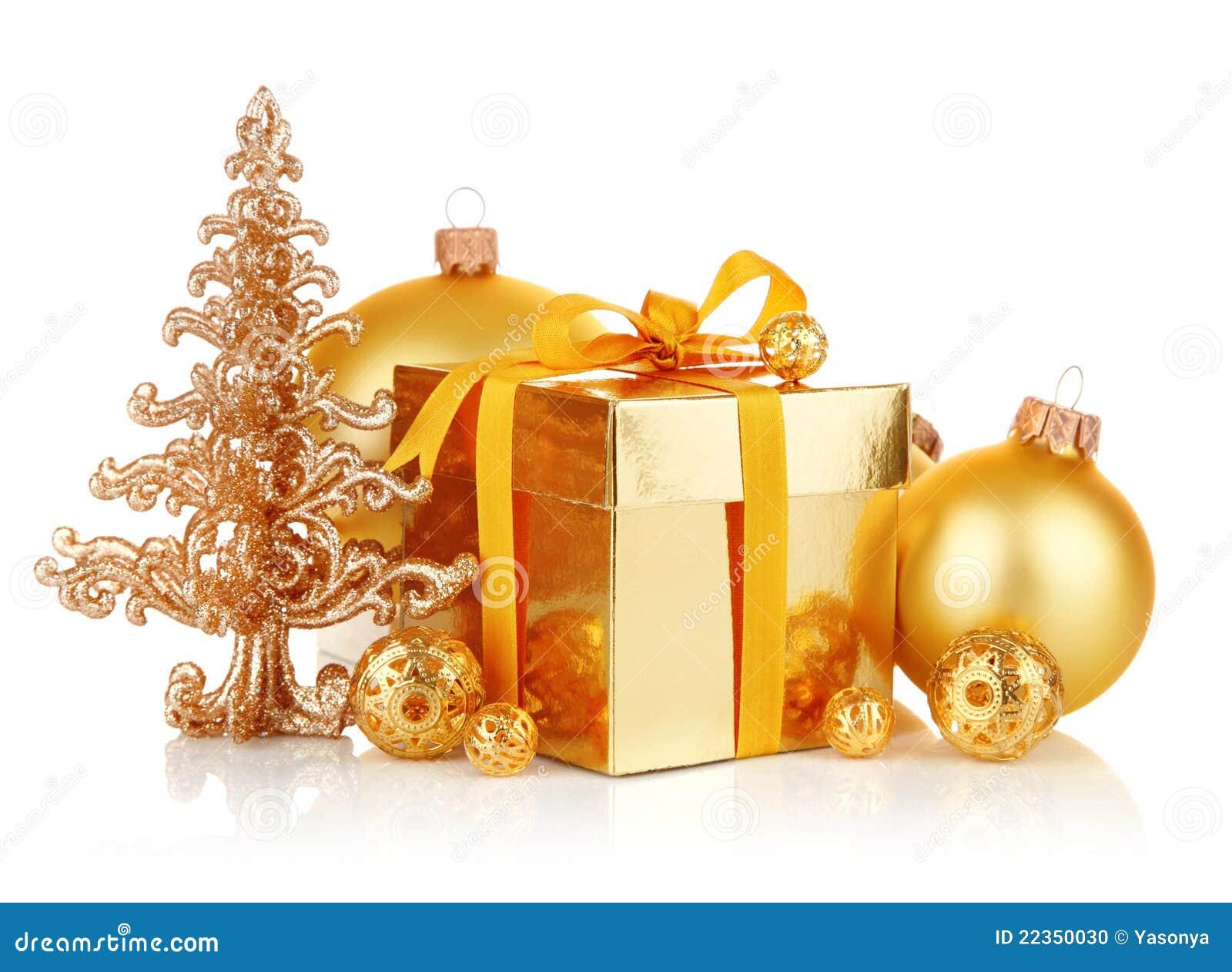 球圣诞节礼品金子