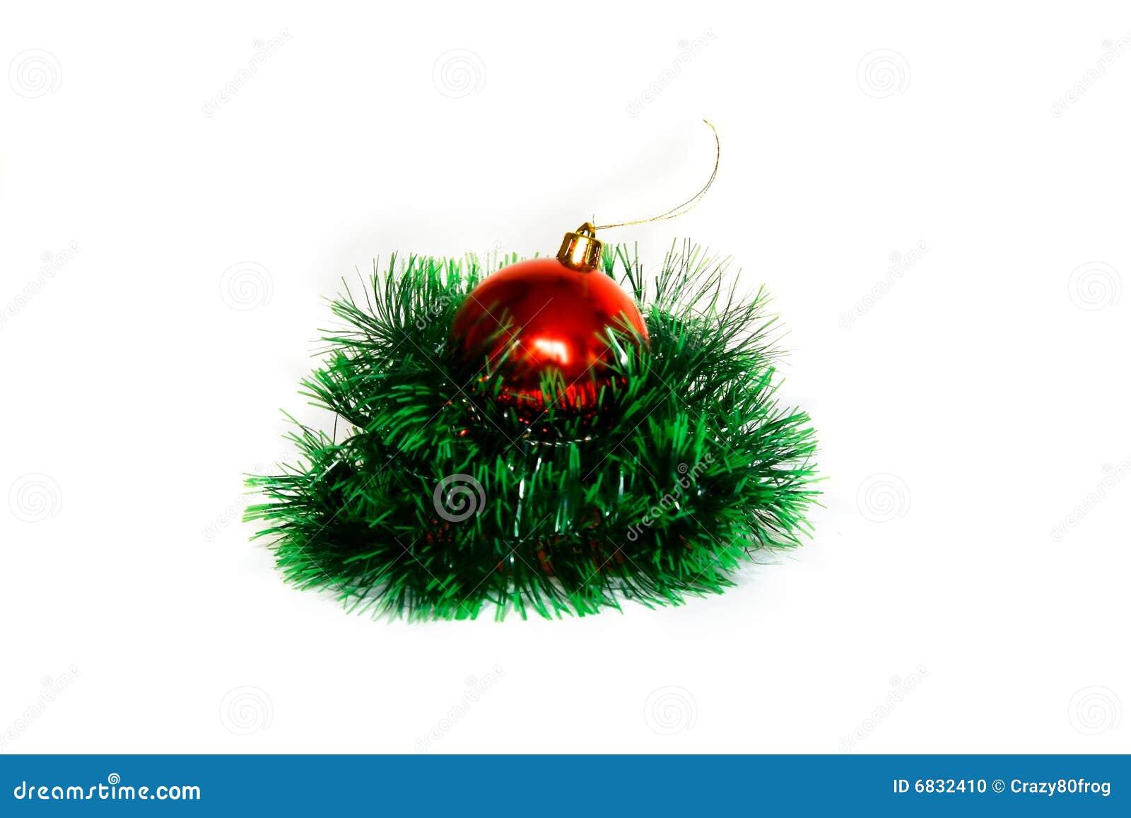 球圣诞节绿色红色闪亮金属片