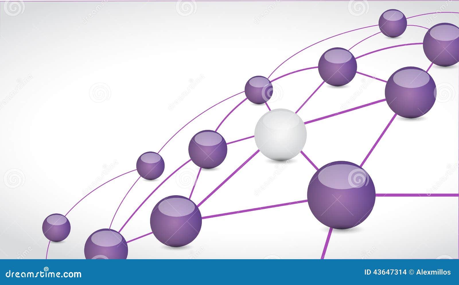 球形连接链接技术网络例证图片