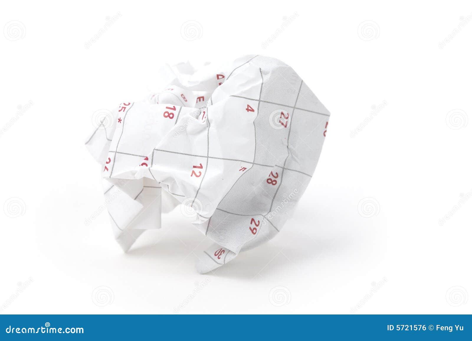 球日历纸张
