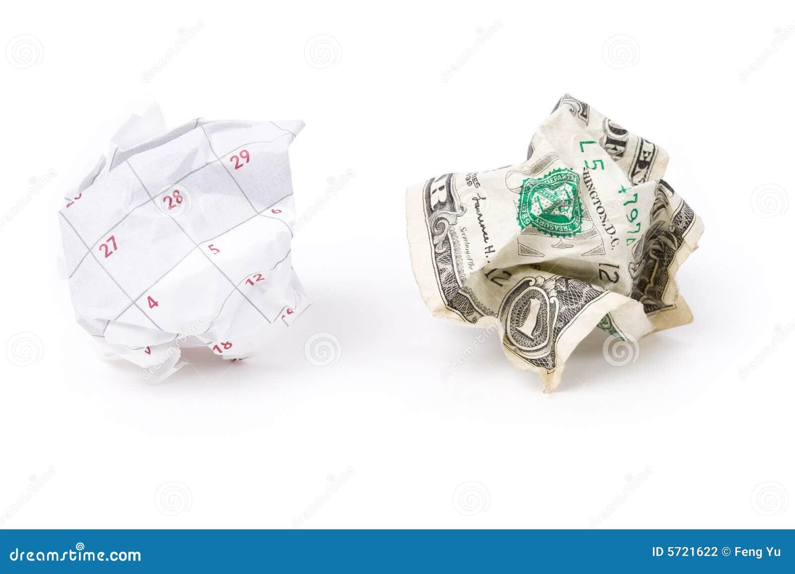 球日历美元纸张