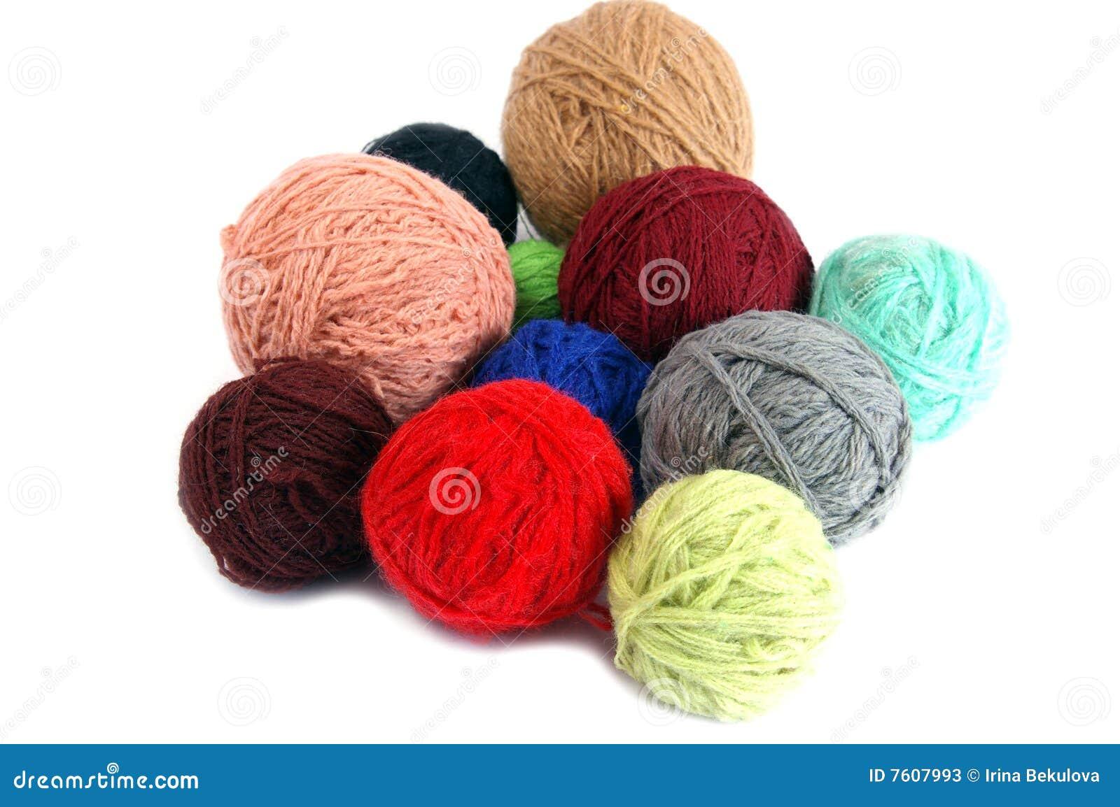 球杂色羊毛制