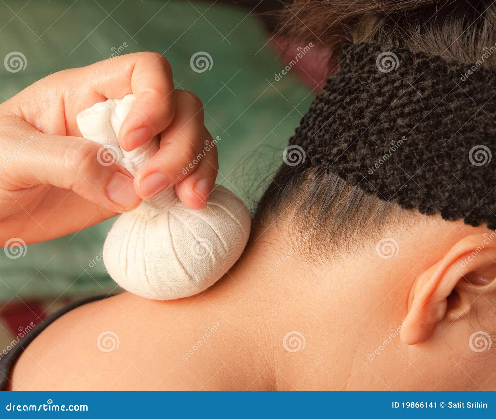 球草本按摩脖子reflexology