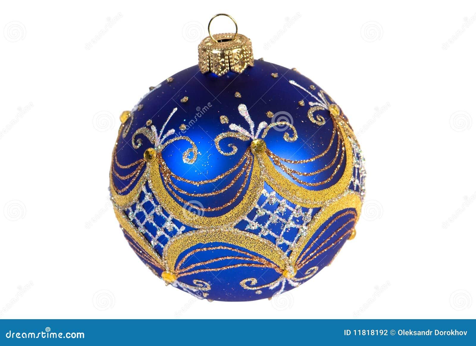 球蓝色圣诞节黑暗