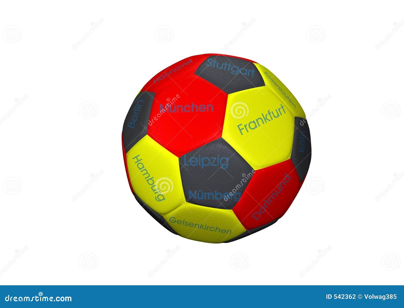Download 球足球 库存例证. 插画 包括有 德国, 足球, 例证, 回报, 作用, 零件, 竹子, 红色, 黄色 - 542362