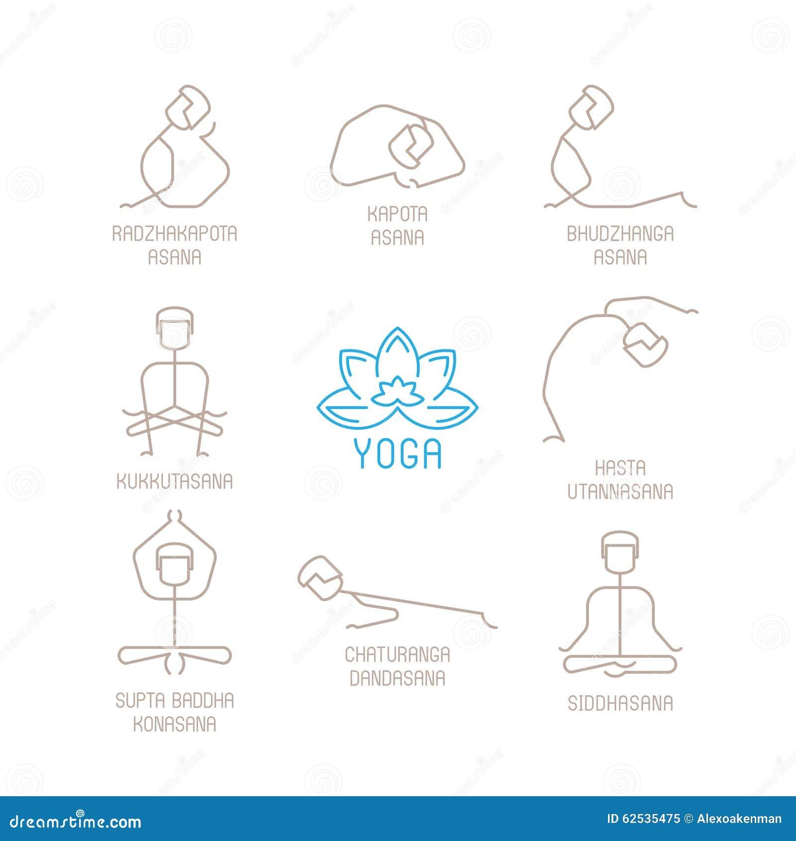 瑜伽摆在单音线型的传染媒介例证
