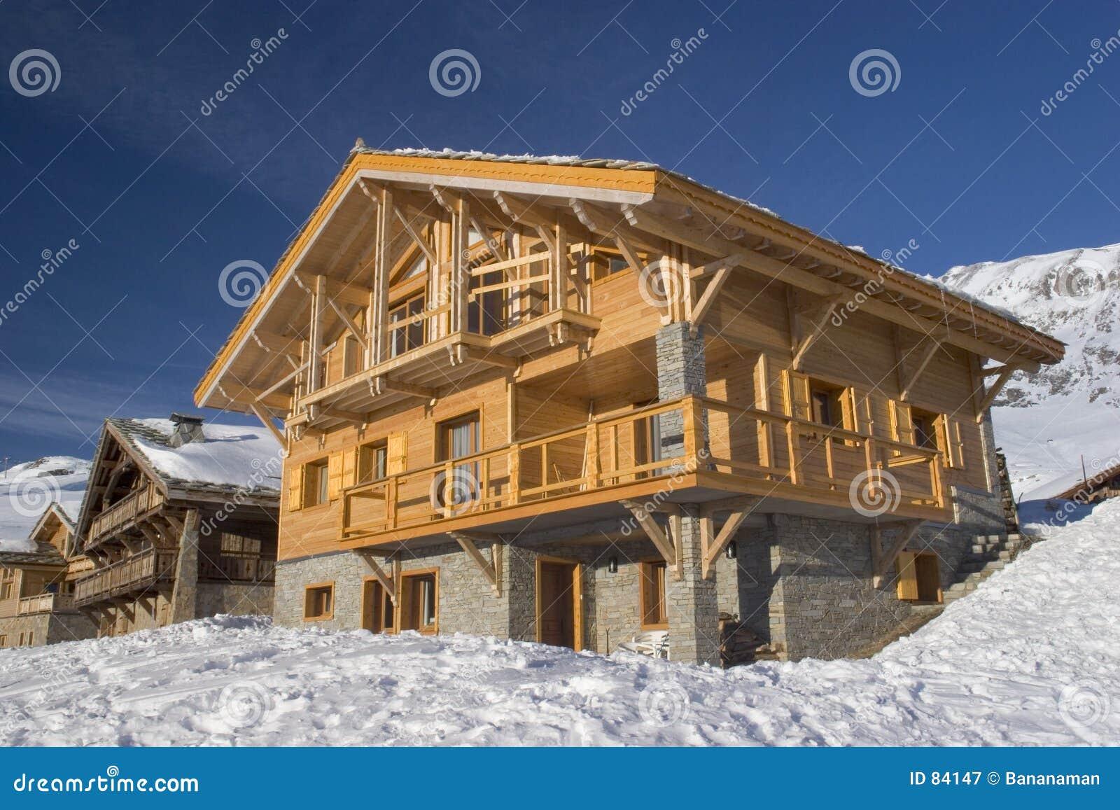 瑞士山中的牧人小屋法国木